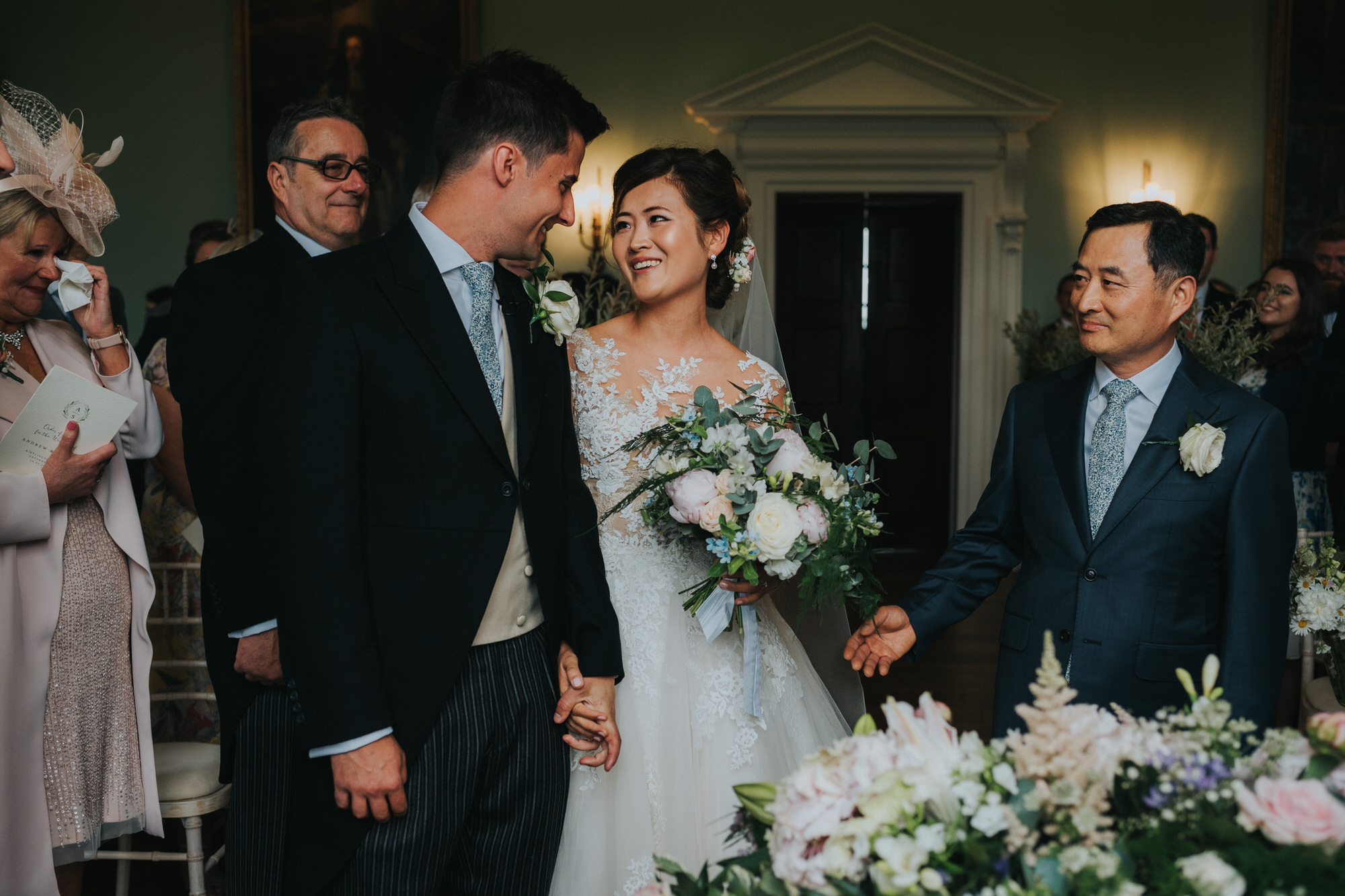 Kirtlington park wedding ceremony