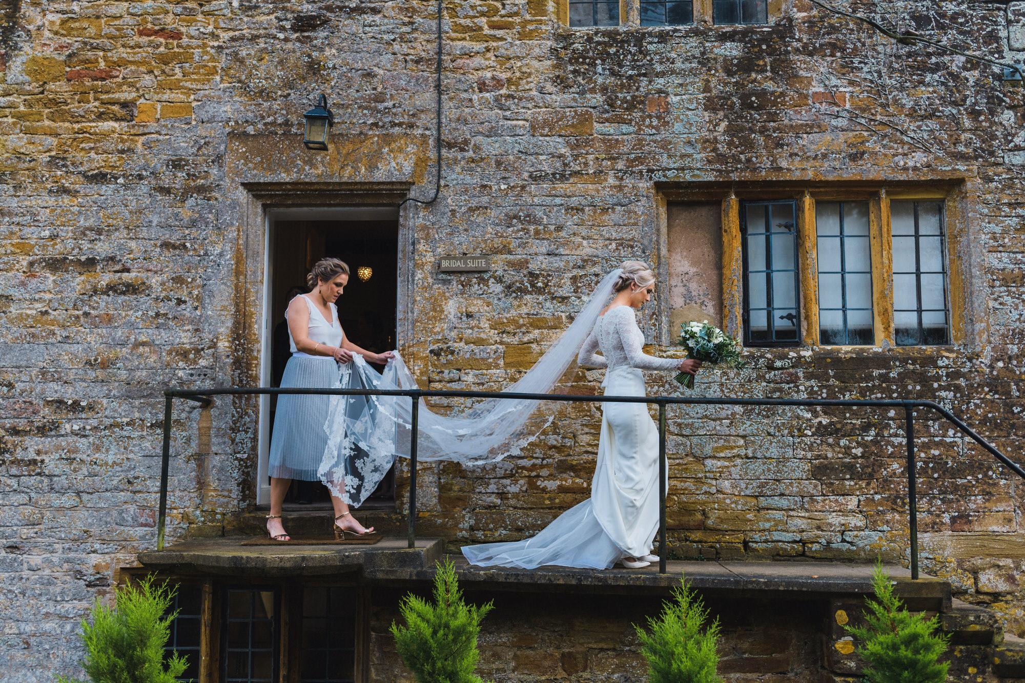 Brympton House wedding bride by simon biffen photography 15