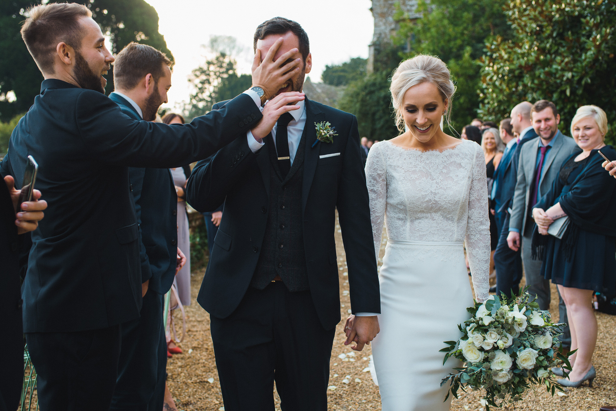 Brympton House wedding confetti by simon biffen photography 25