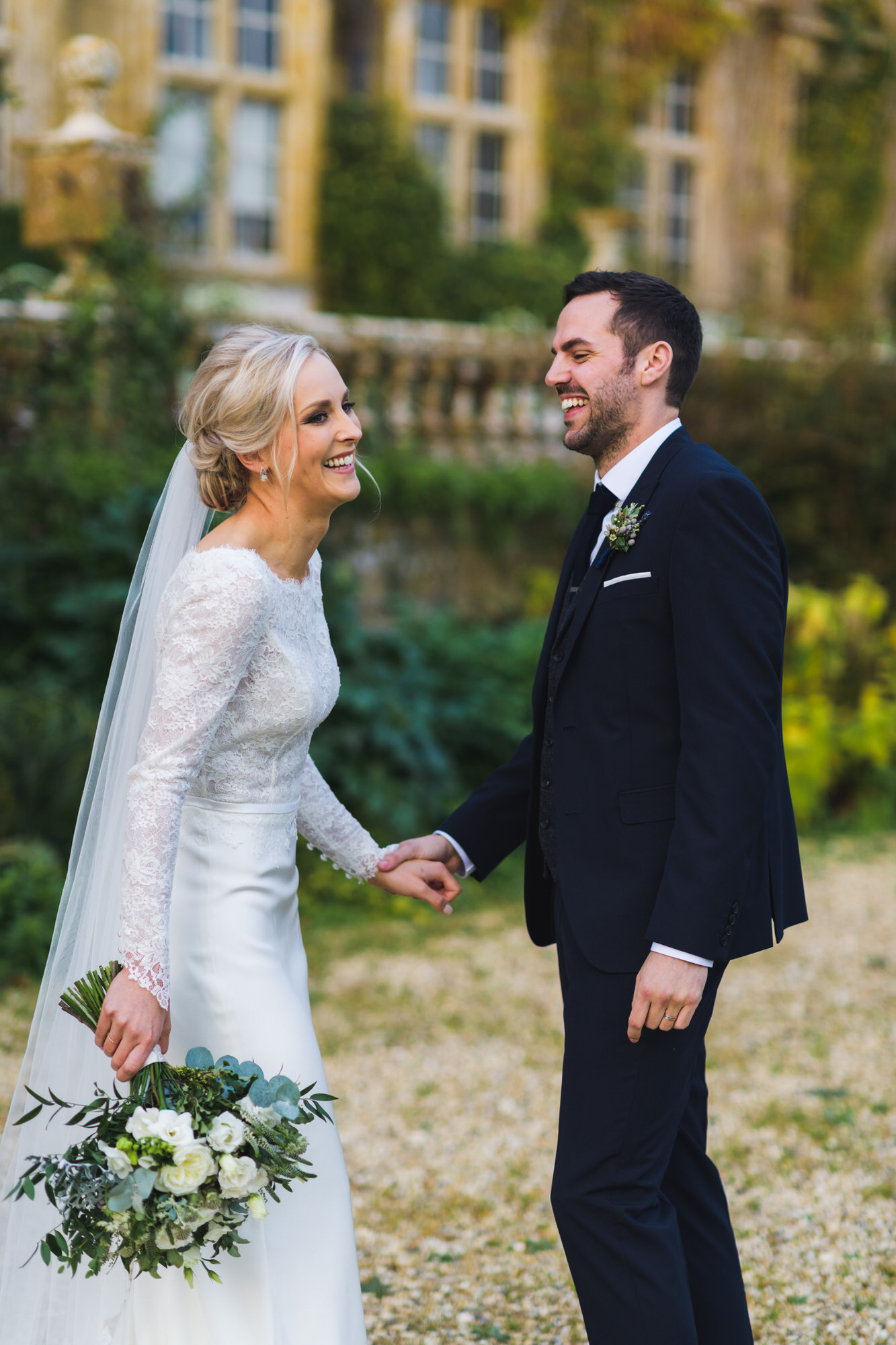Brympton house wedding bride and groom by simon biffen photography 28