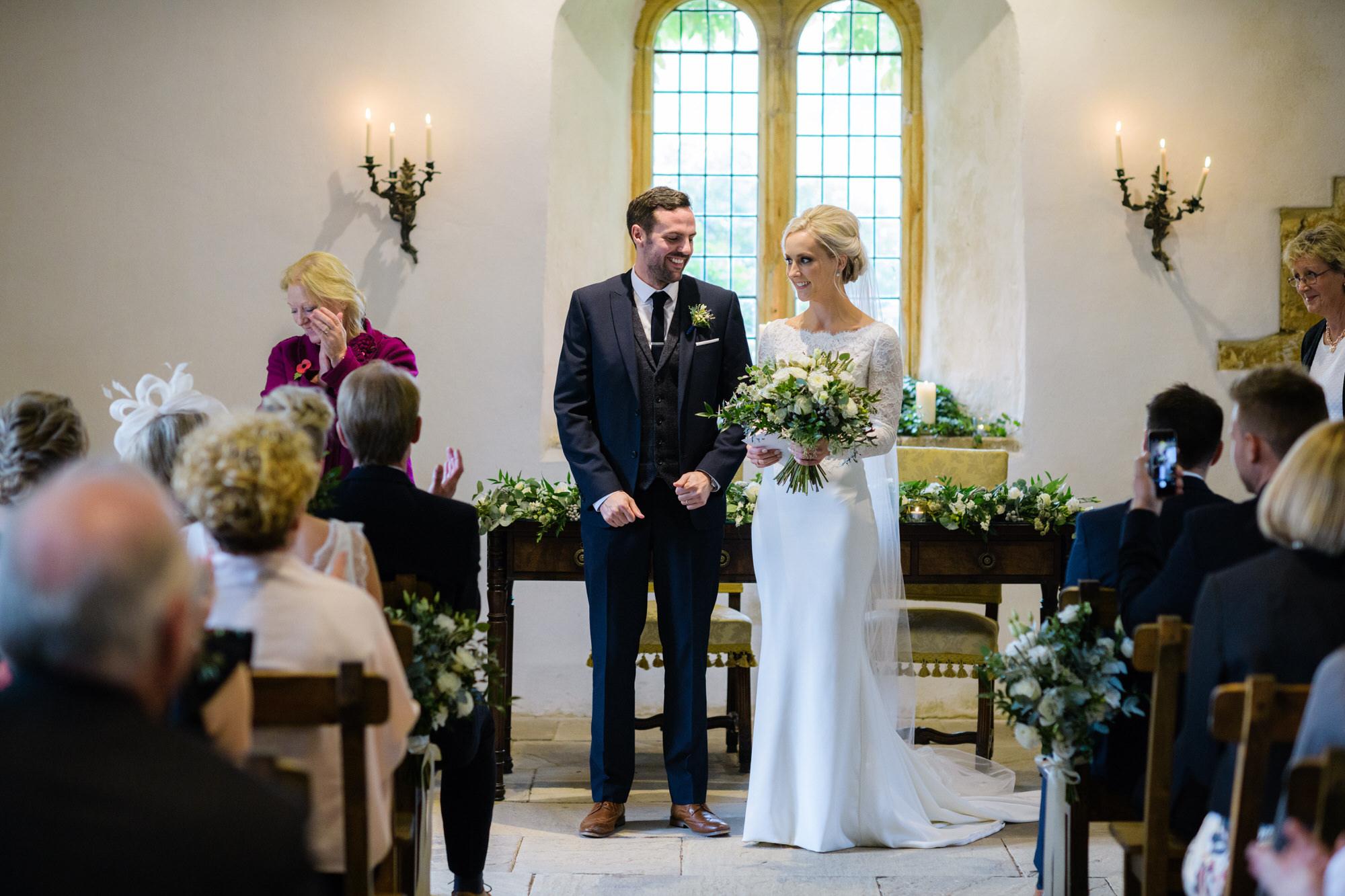 Wedding ceremony Brympton house Somerset