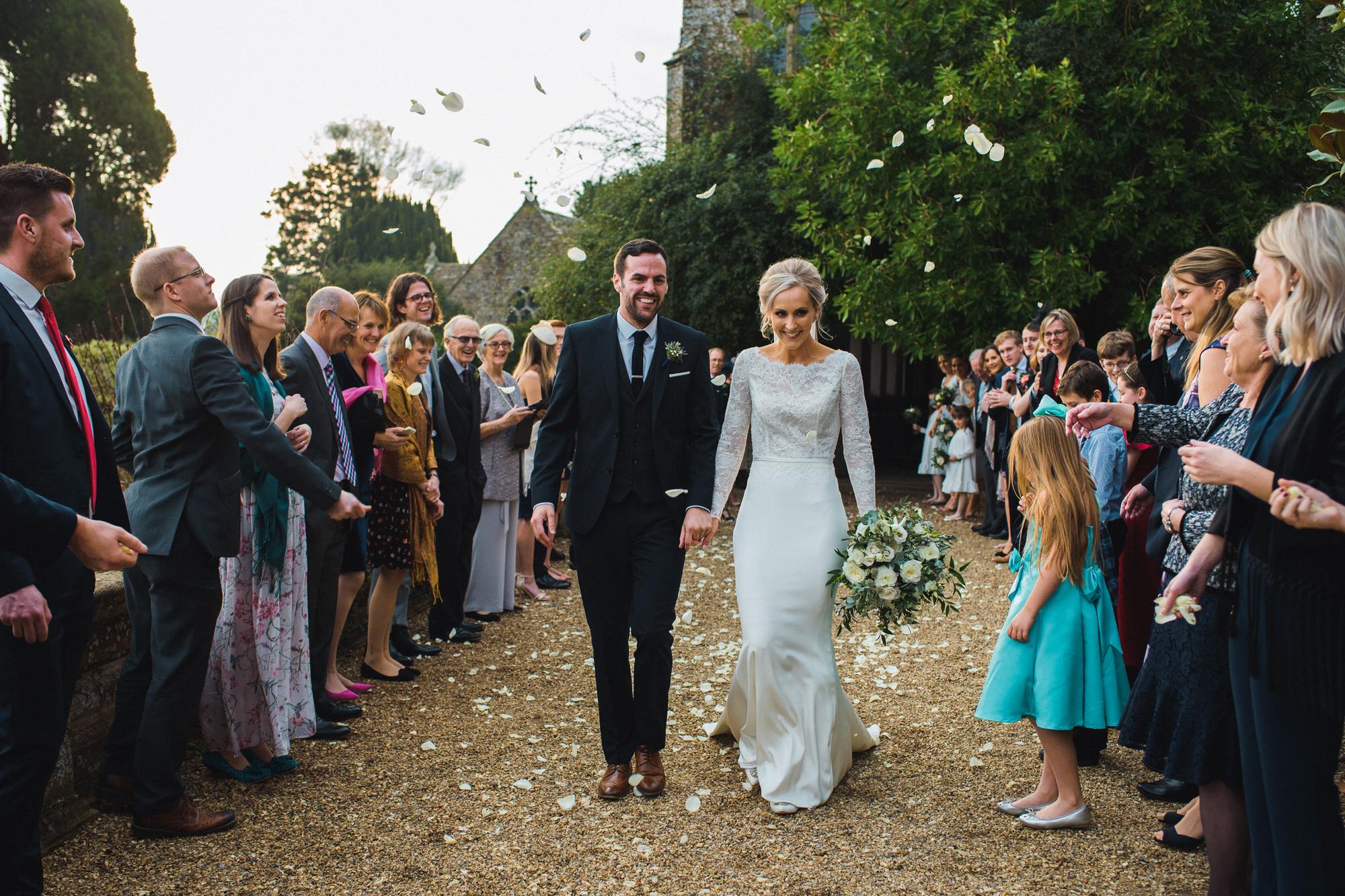 Wedding confetti Brympton house Somerset