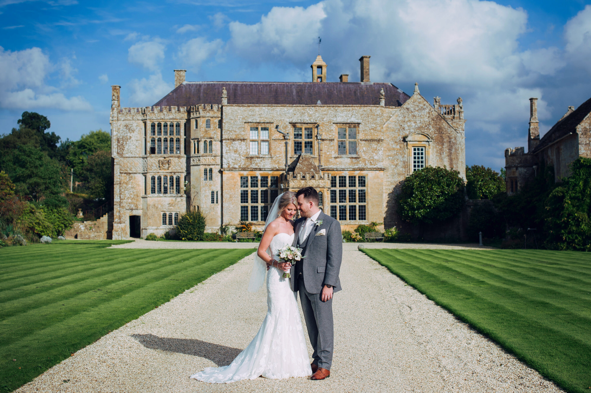 Brympton house bride and groom