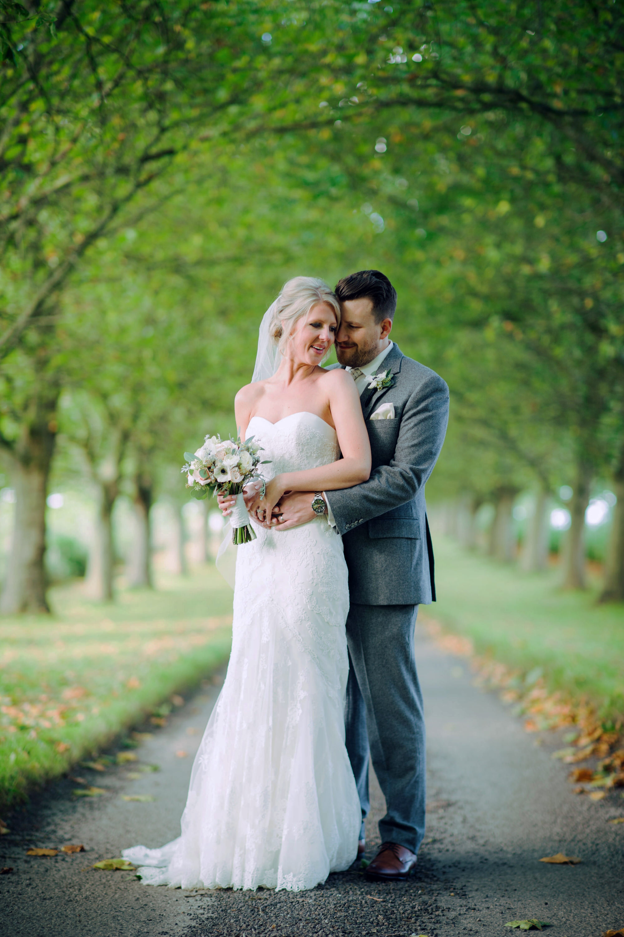 Bride and groom Brympton house