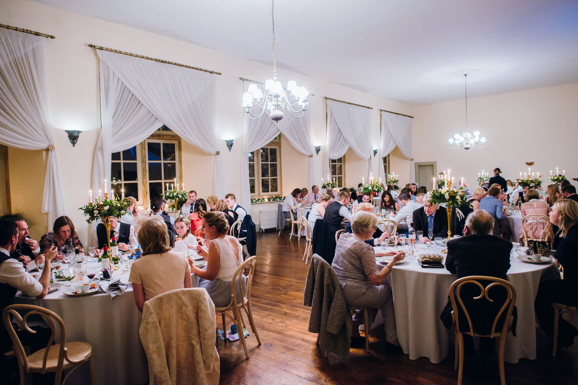 Brympton House wedding dining room