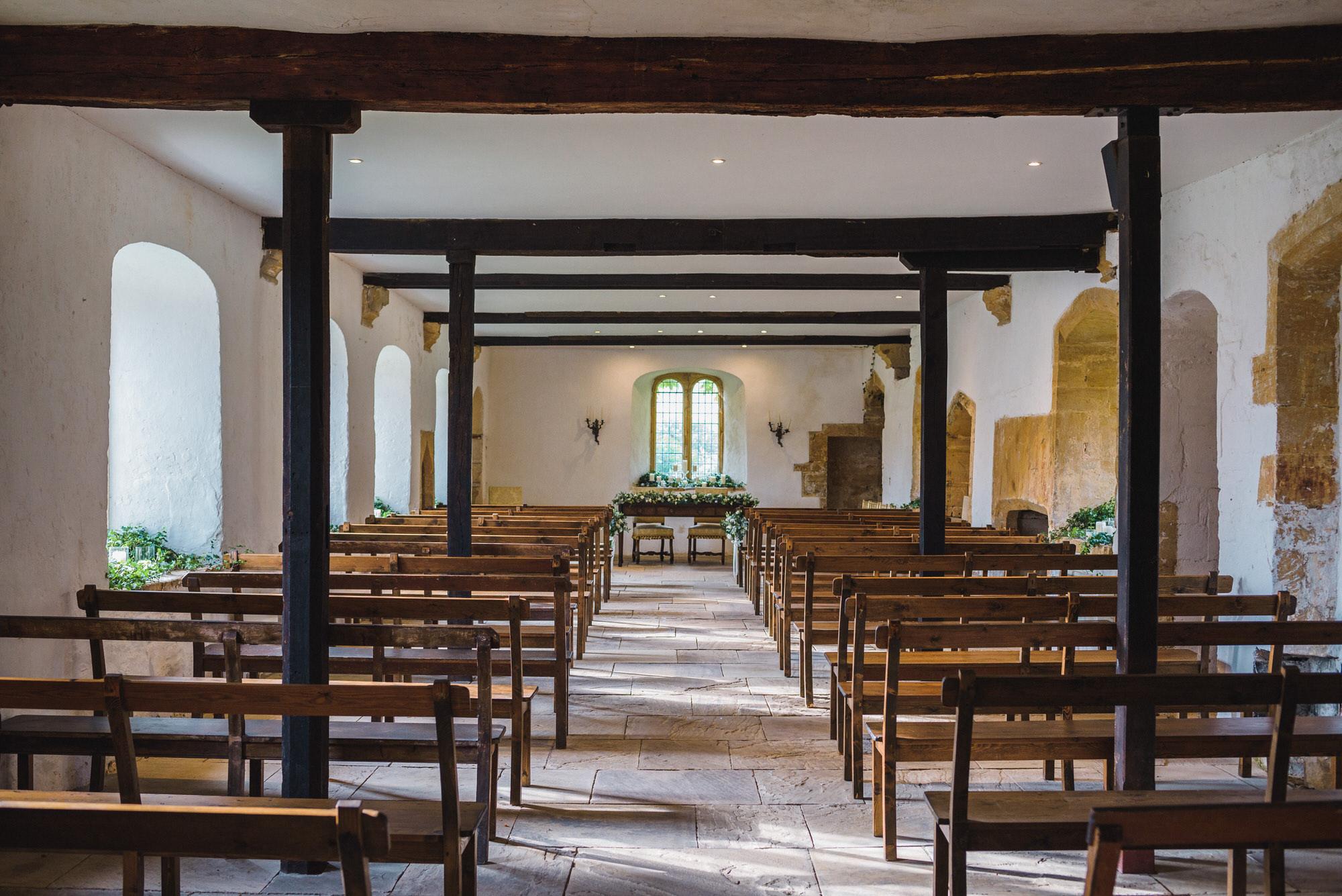 Brympton House Wedding ceremony room