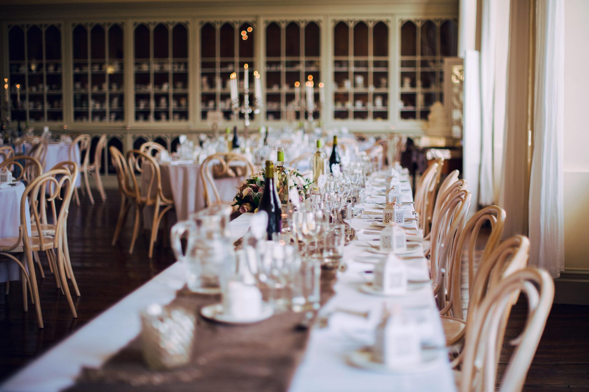 Brympton House wedding breakfast