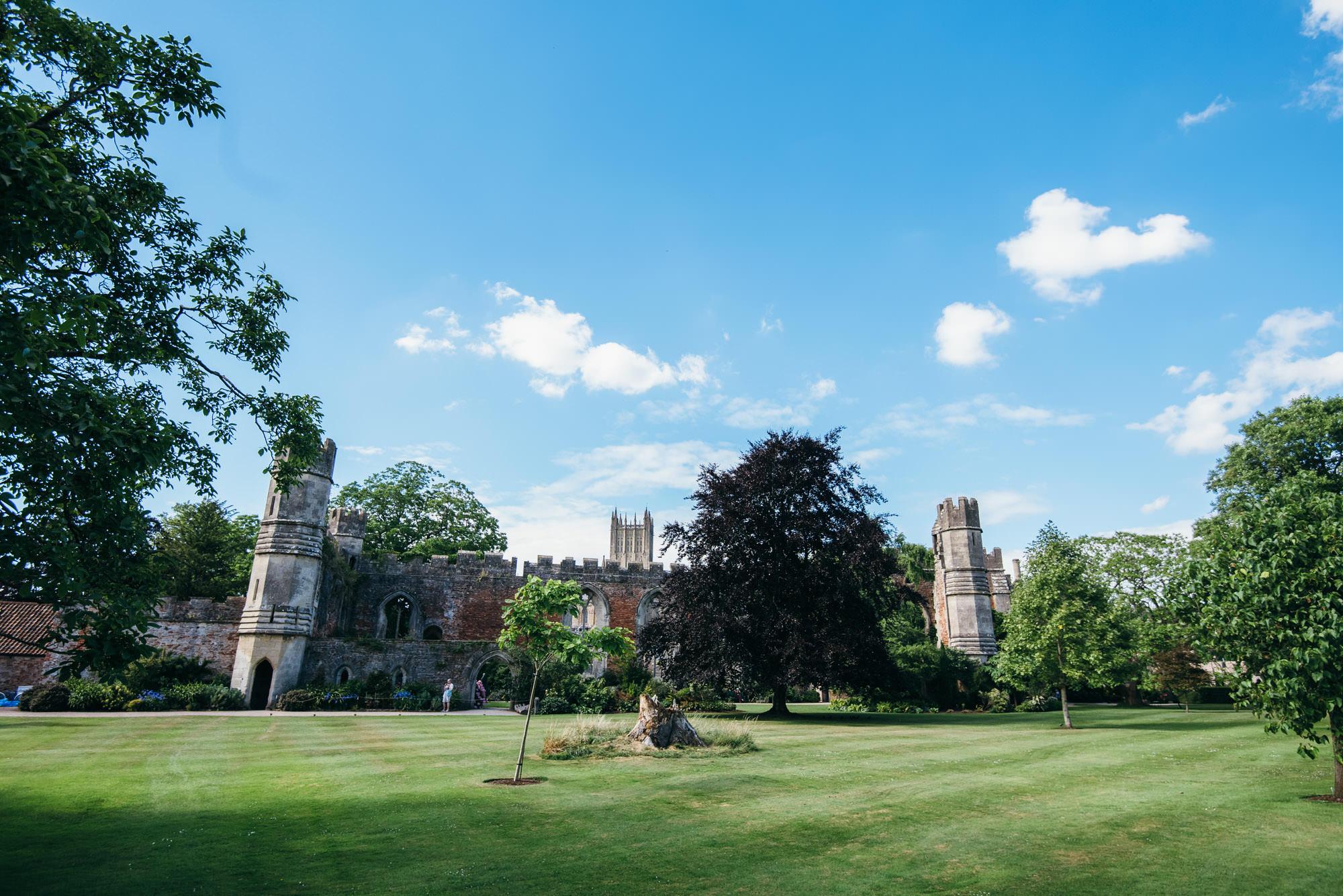 Bishops palace lawns