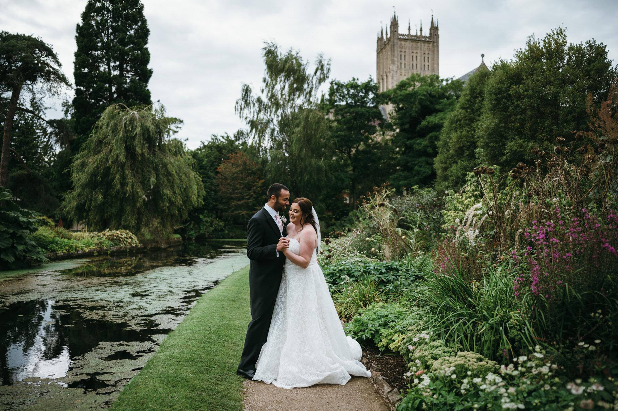 Natural wedding photography at Bishops Palace