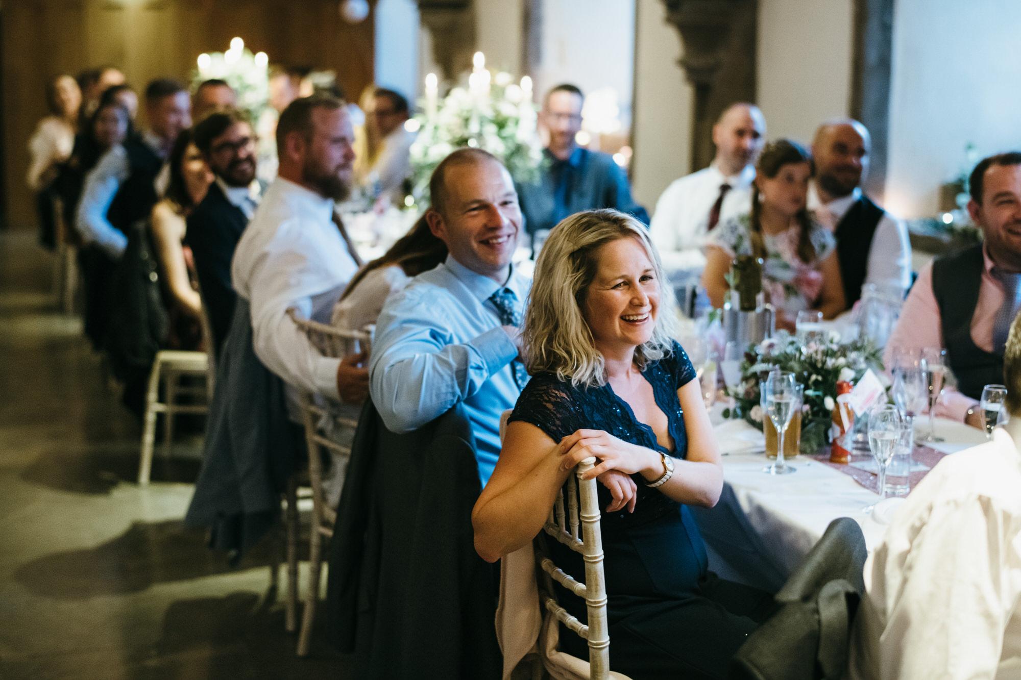 Wedding guests at Bishops Palace