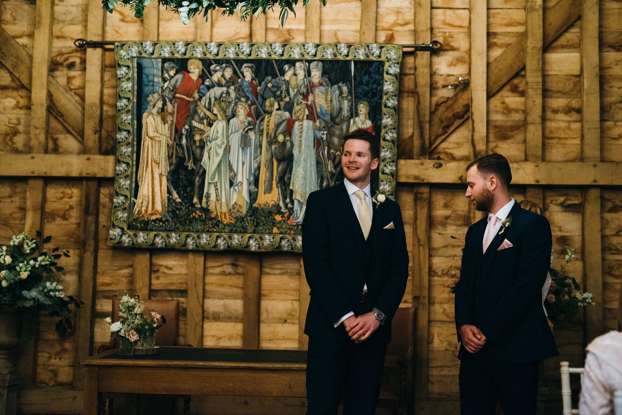 Colville hall barn groom waiting