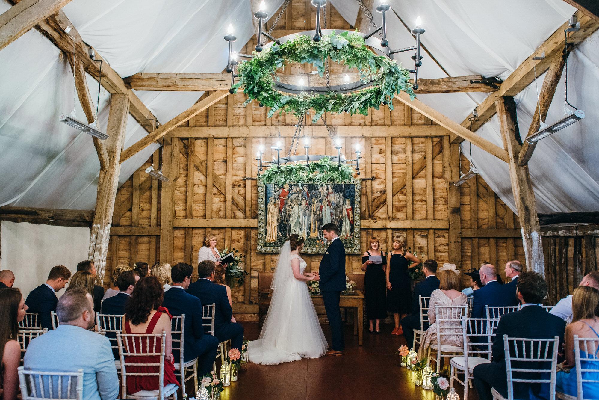 Colville hall wedding barn ceremony
