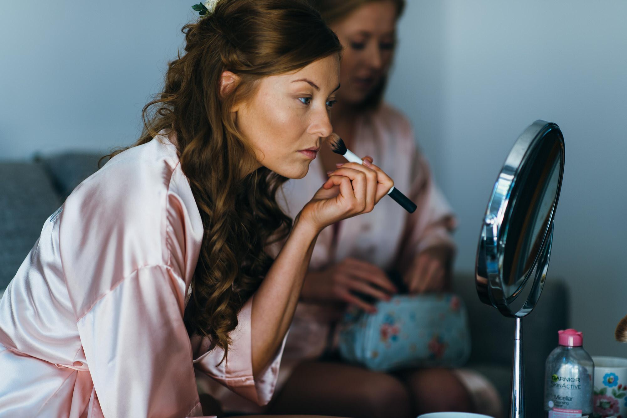 Colville hall wedding bridesmaid makeup