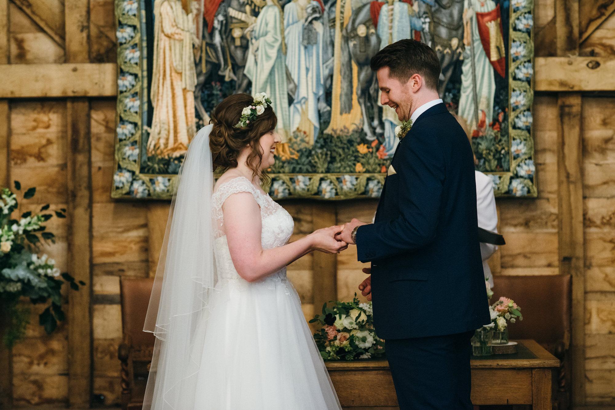 Colville hall barn wedding ceremony