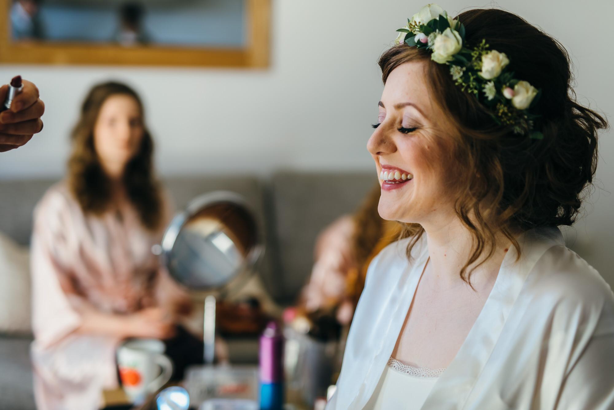 Colville hall bride makeup