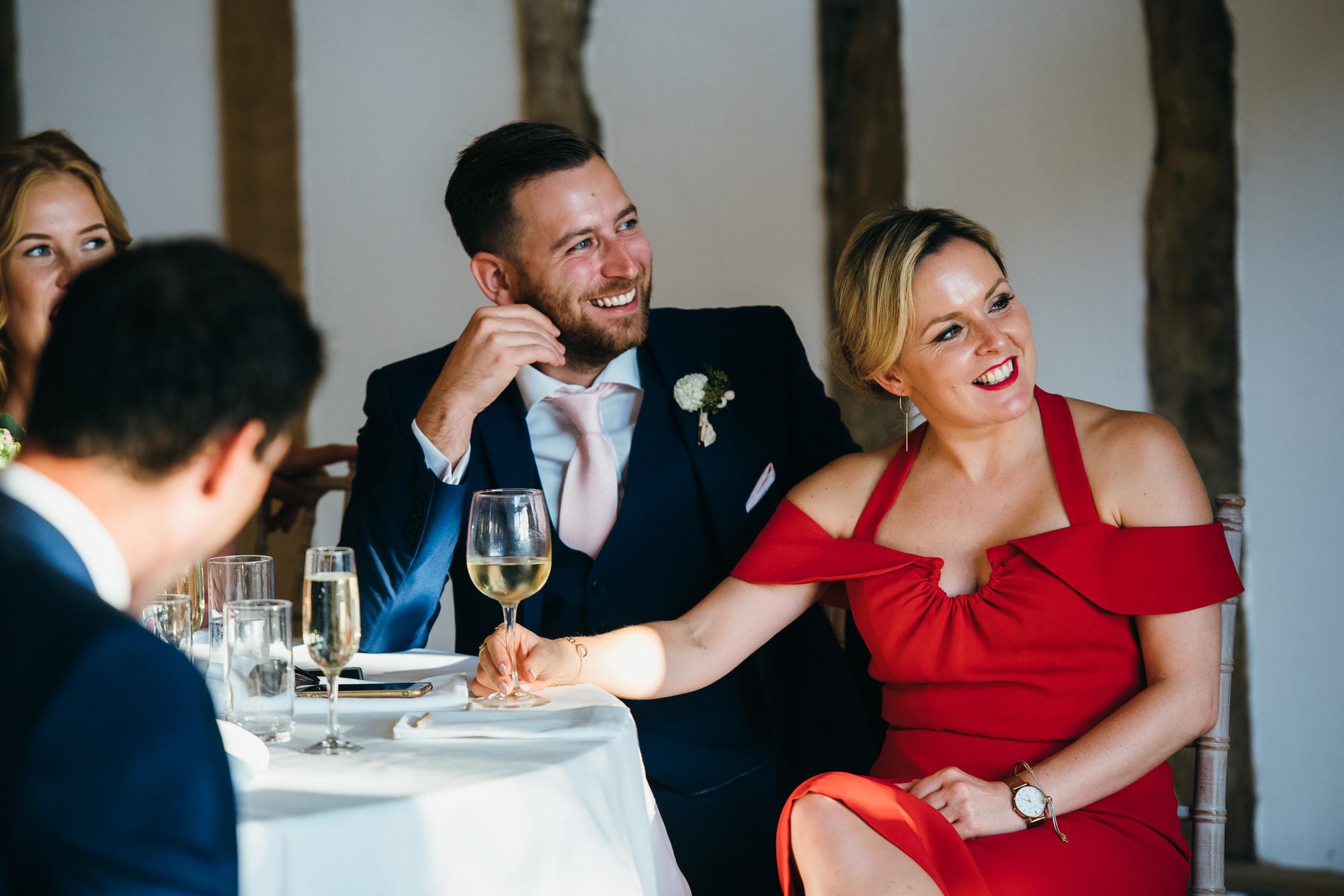 Colville hall wedding speech reactions