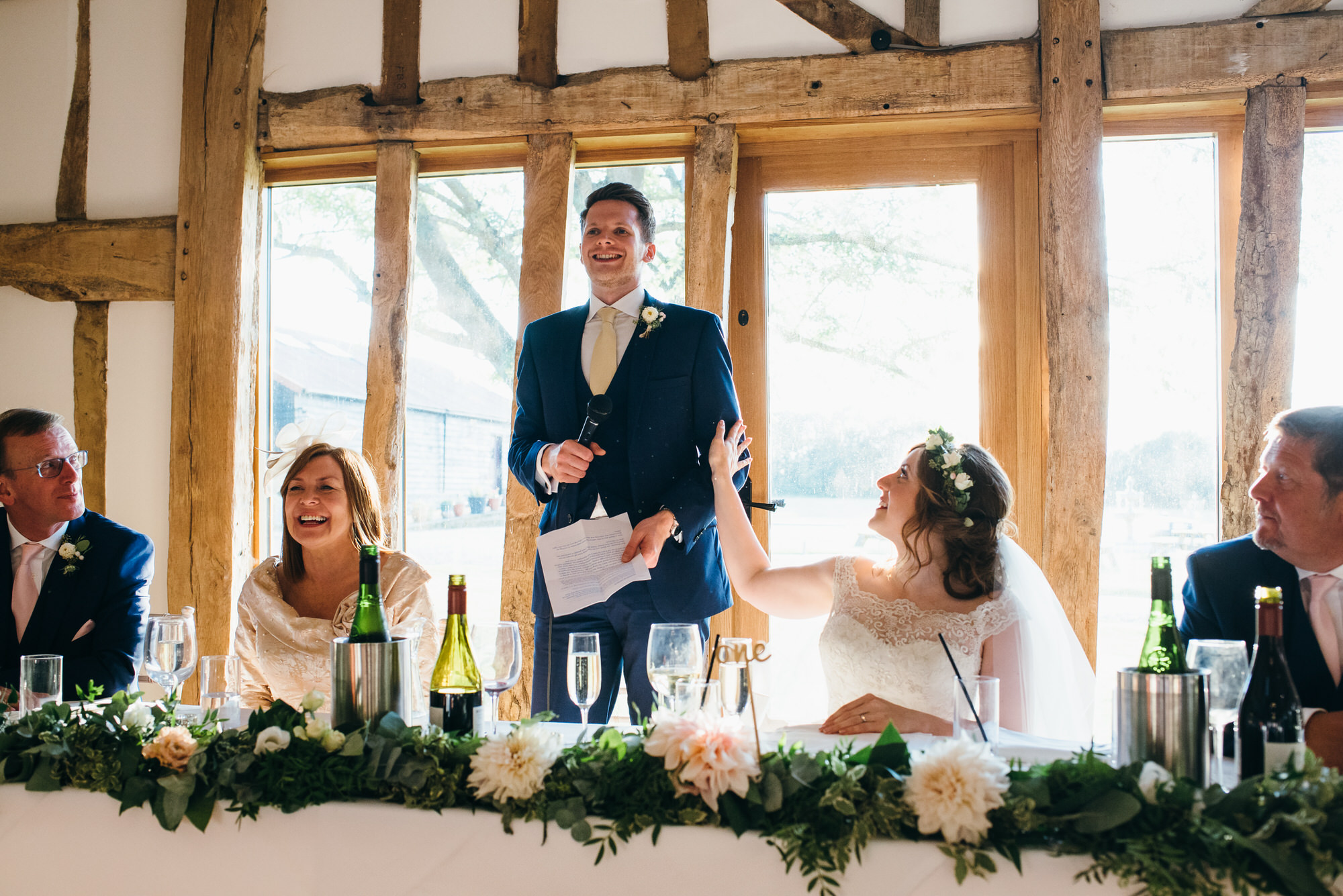 Speeches at Colville hall wedding