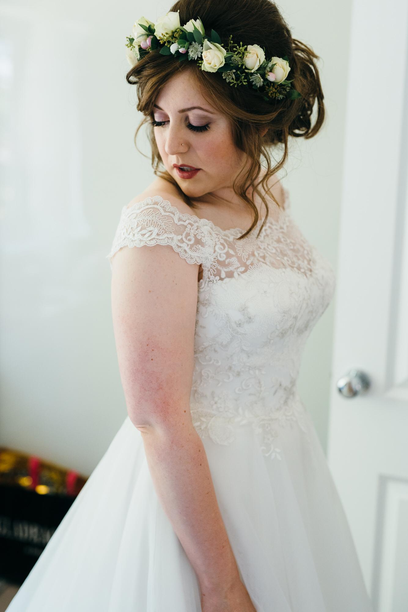 Colville hall Bride in wedding dress