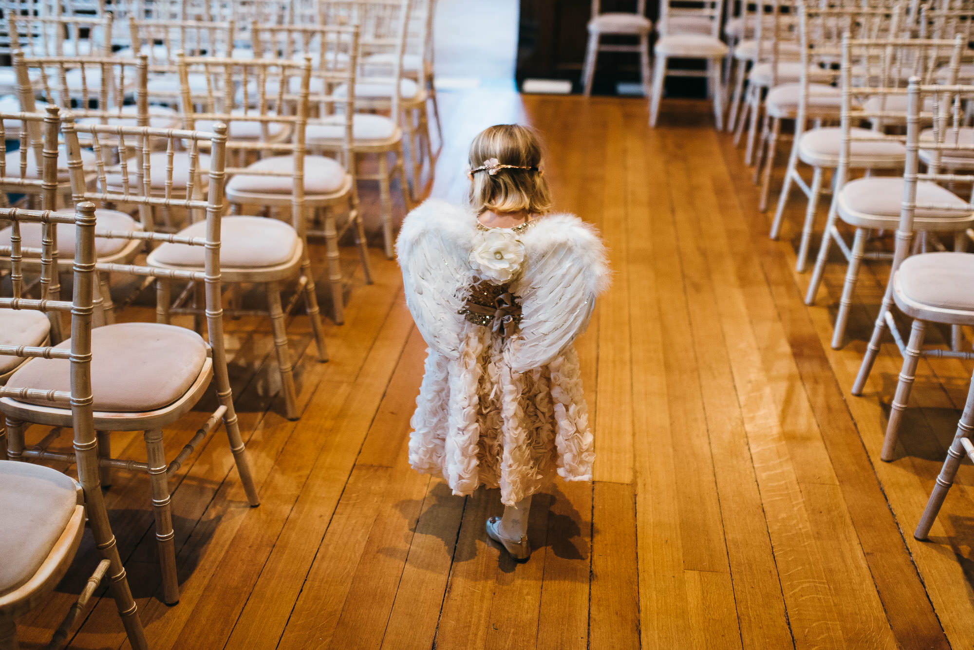 Flowergirl at Hengrave hall wedding