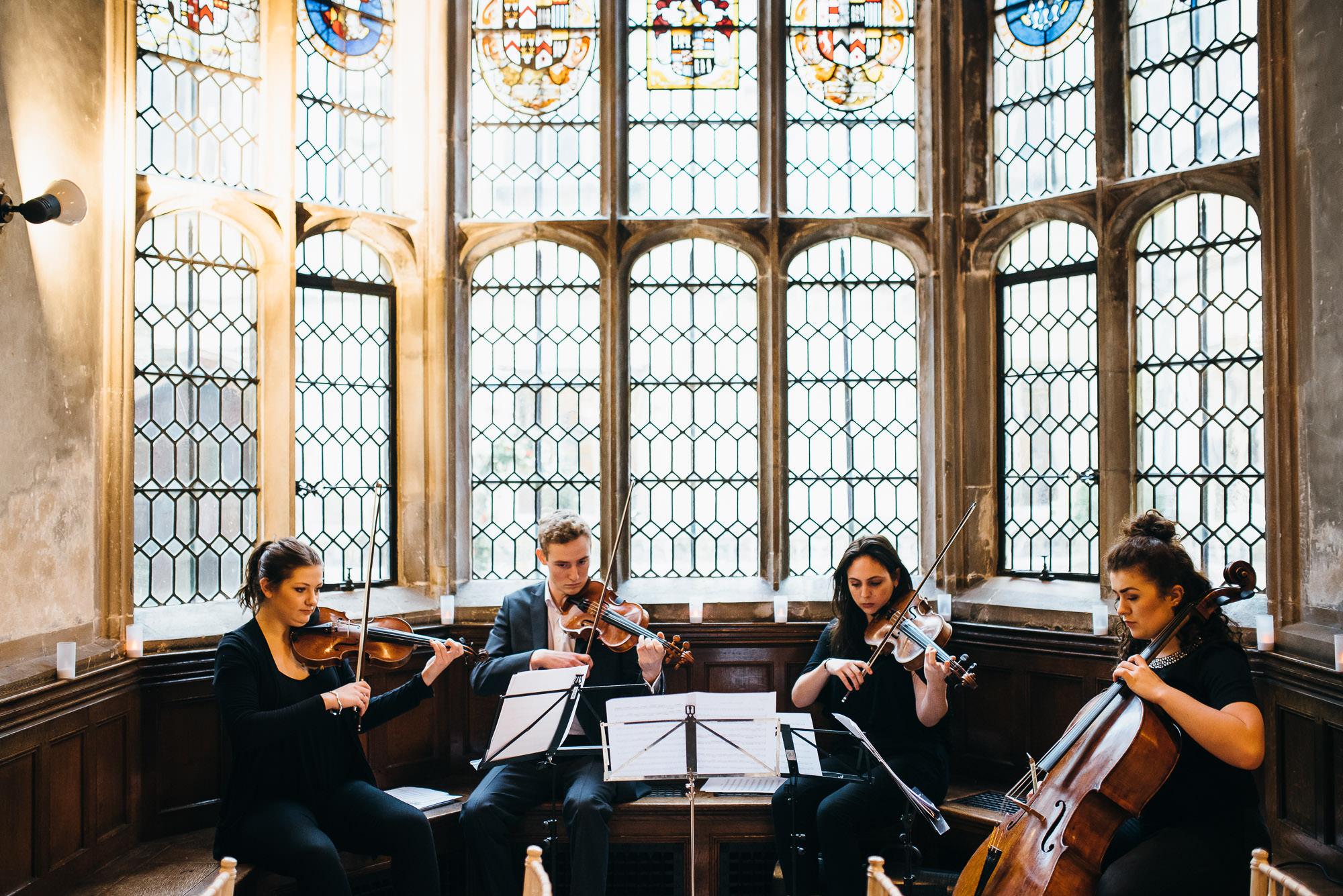 String Quartet Hengrave hall wedding