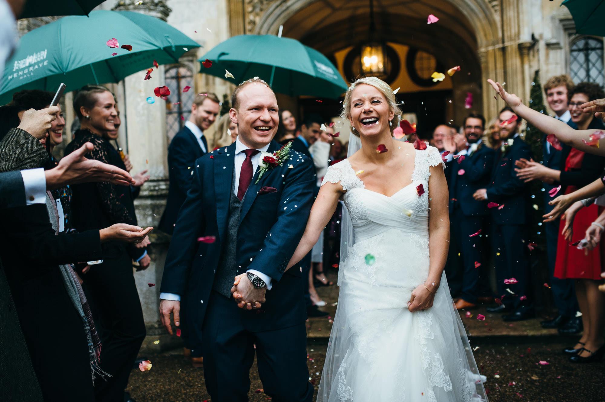 Hengrave hall wedding confetii