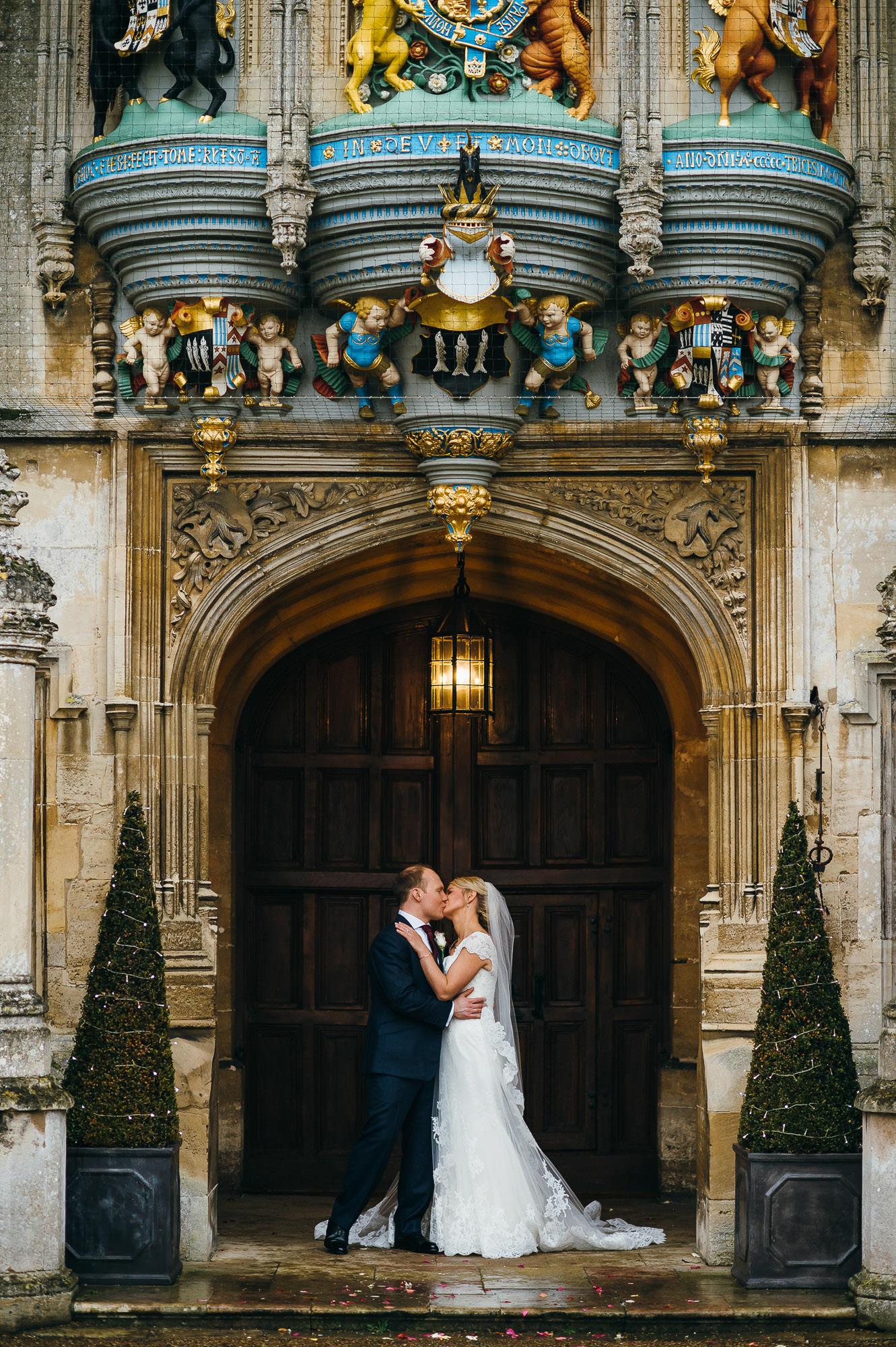 Bride and Groom Hengrave Hall wedding