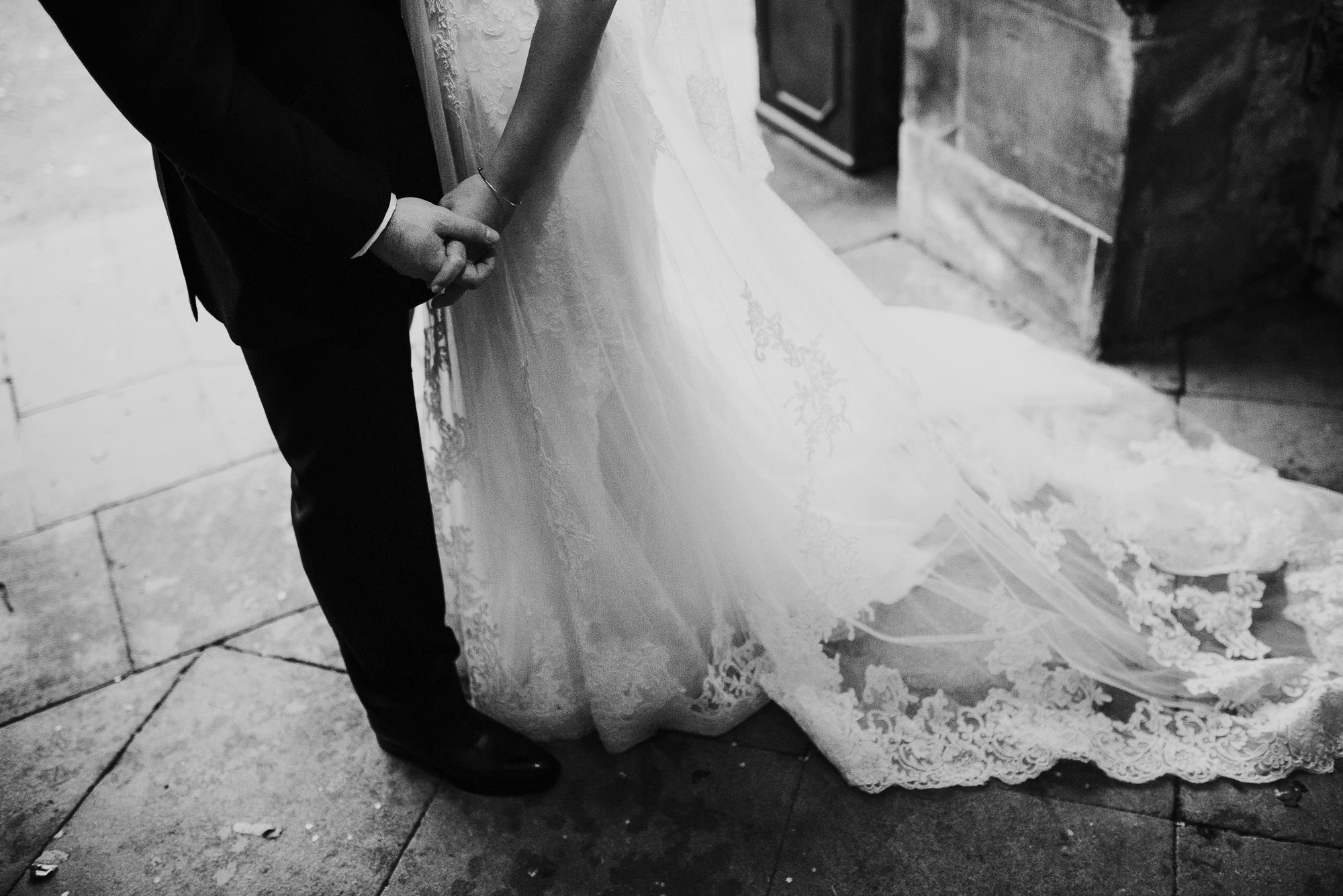 Natural Hengrave hall wedding photographer