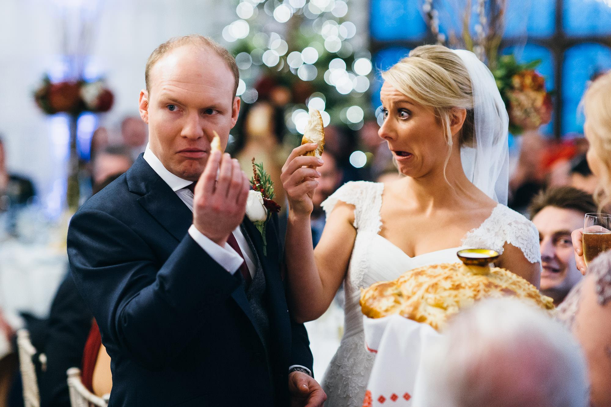 Hengrave hall wedding couple