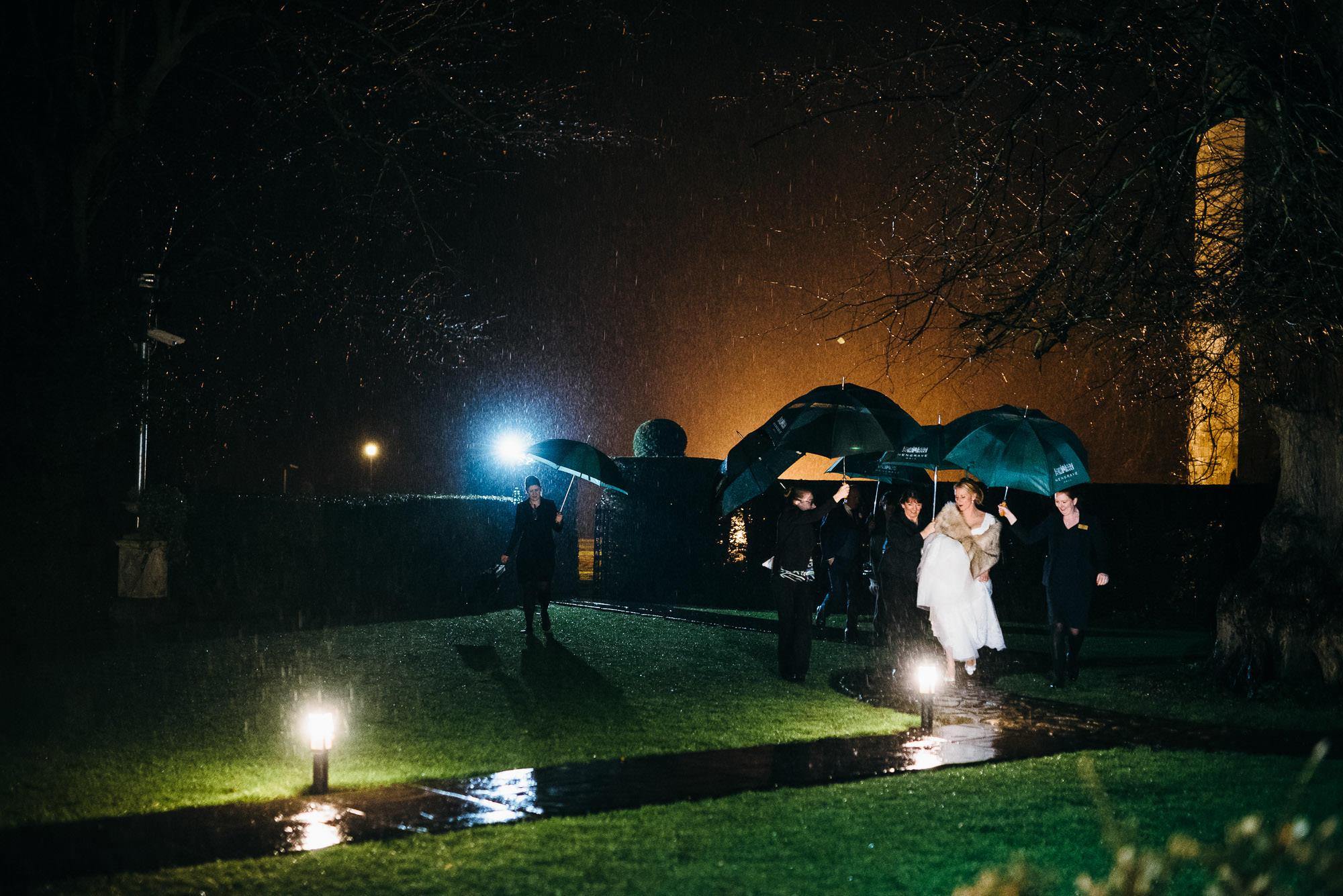 Hengrave hall winter wedding
