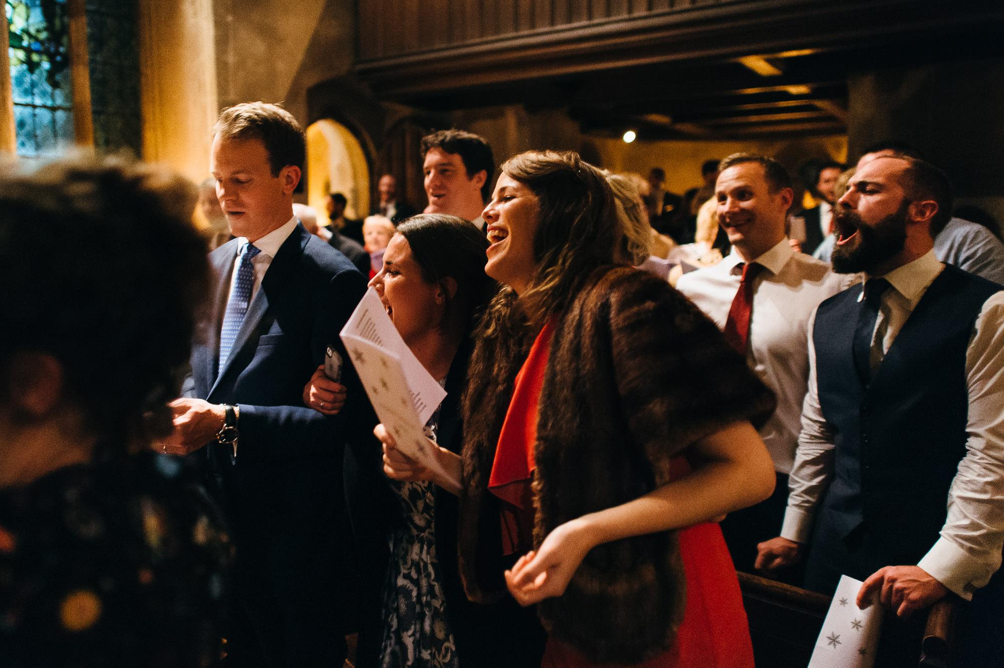 Hengrave hall winter wedding reception