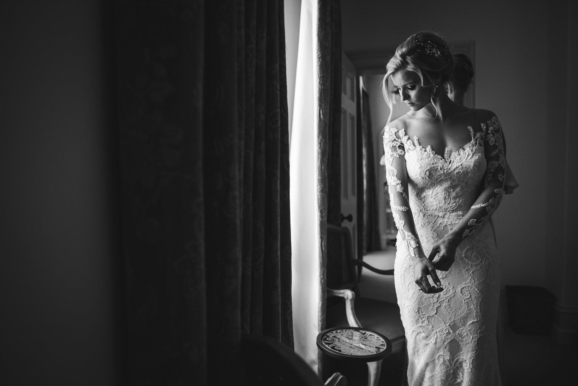 Rosa Clara Bride in luxurious lace wedding dress