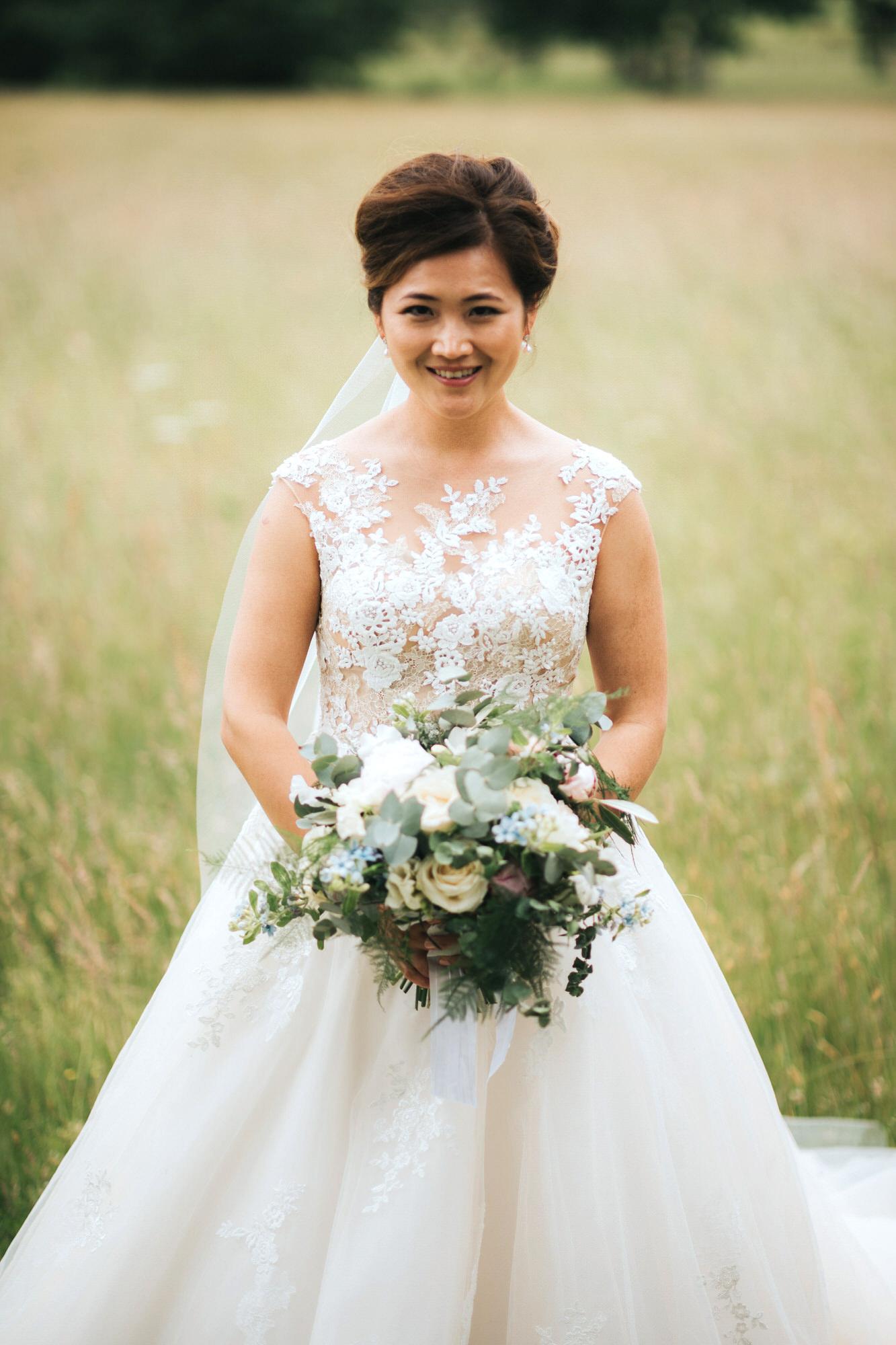 Lace detail wedding dress
