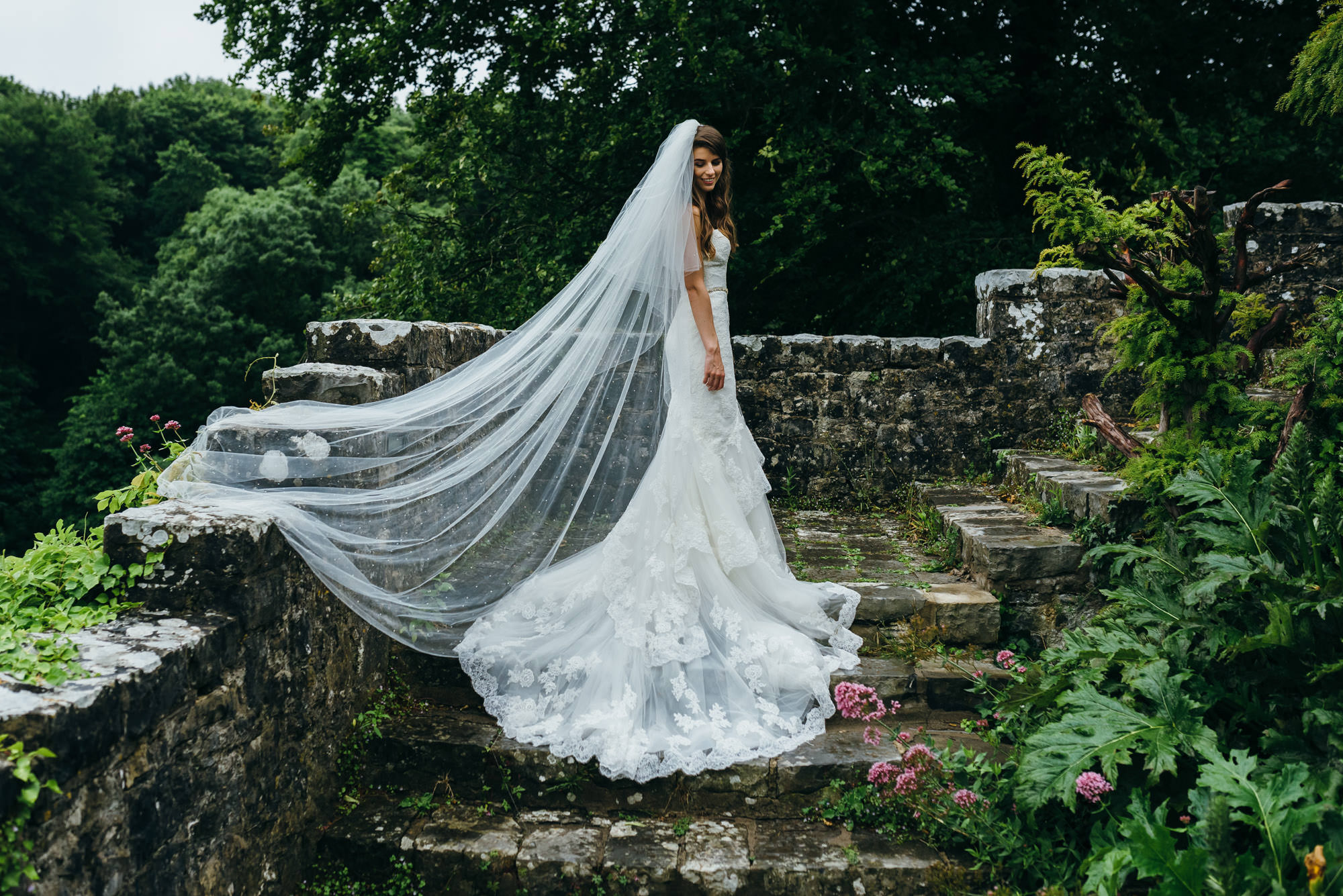 Enzoani wedding dress St Donat's Castle