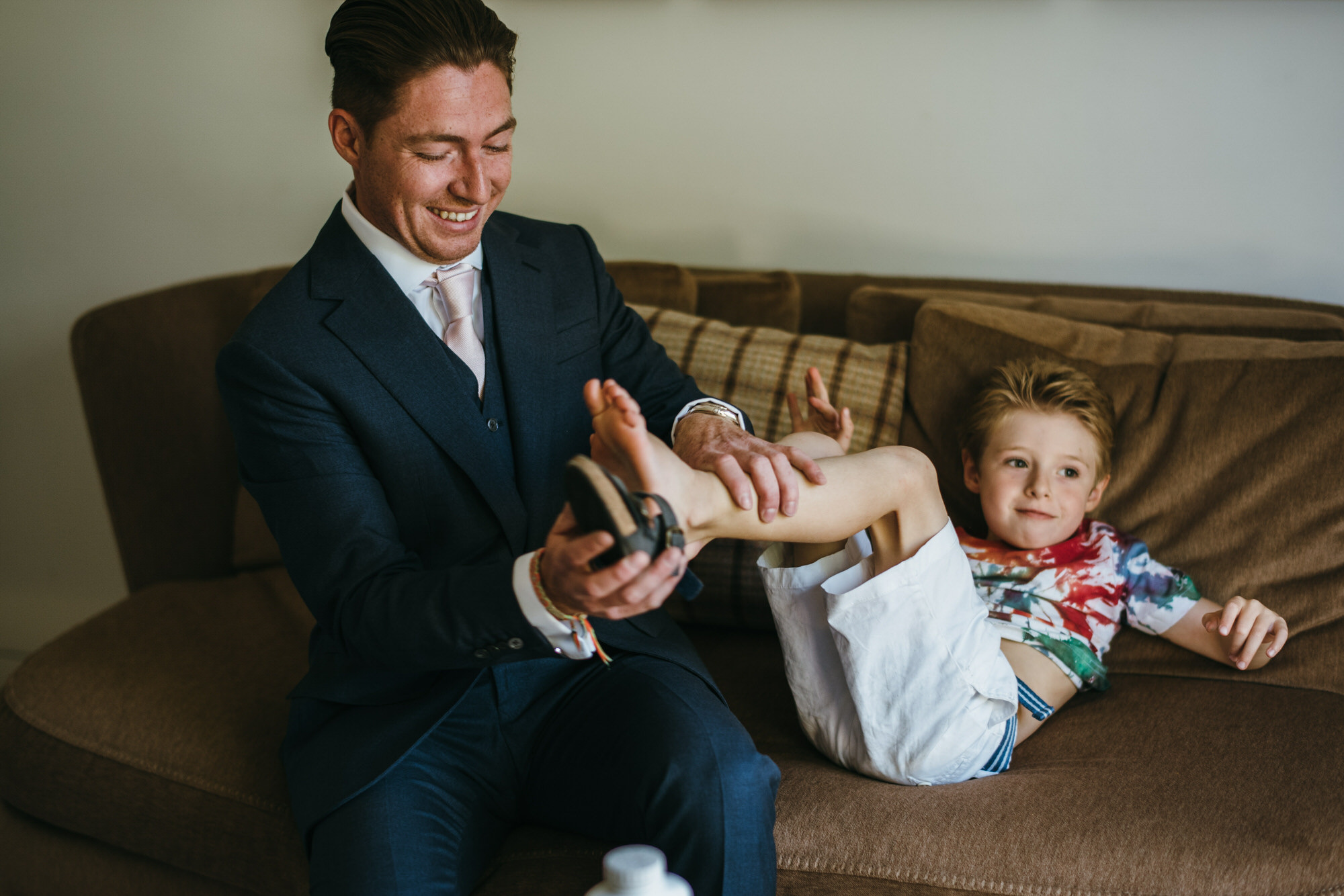 Groom gets son changed