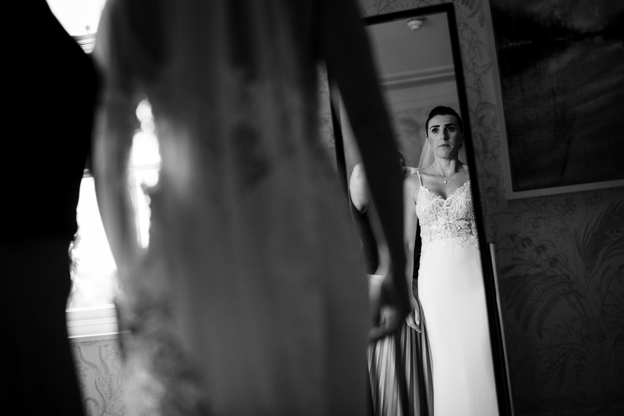 Bride in dress Coworth Park