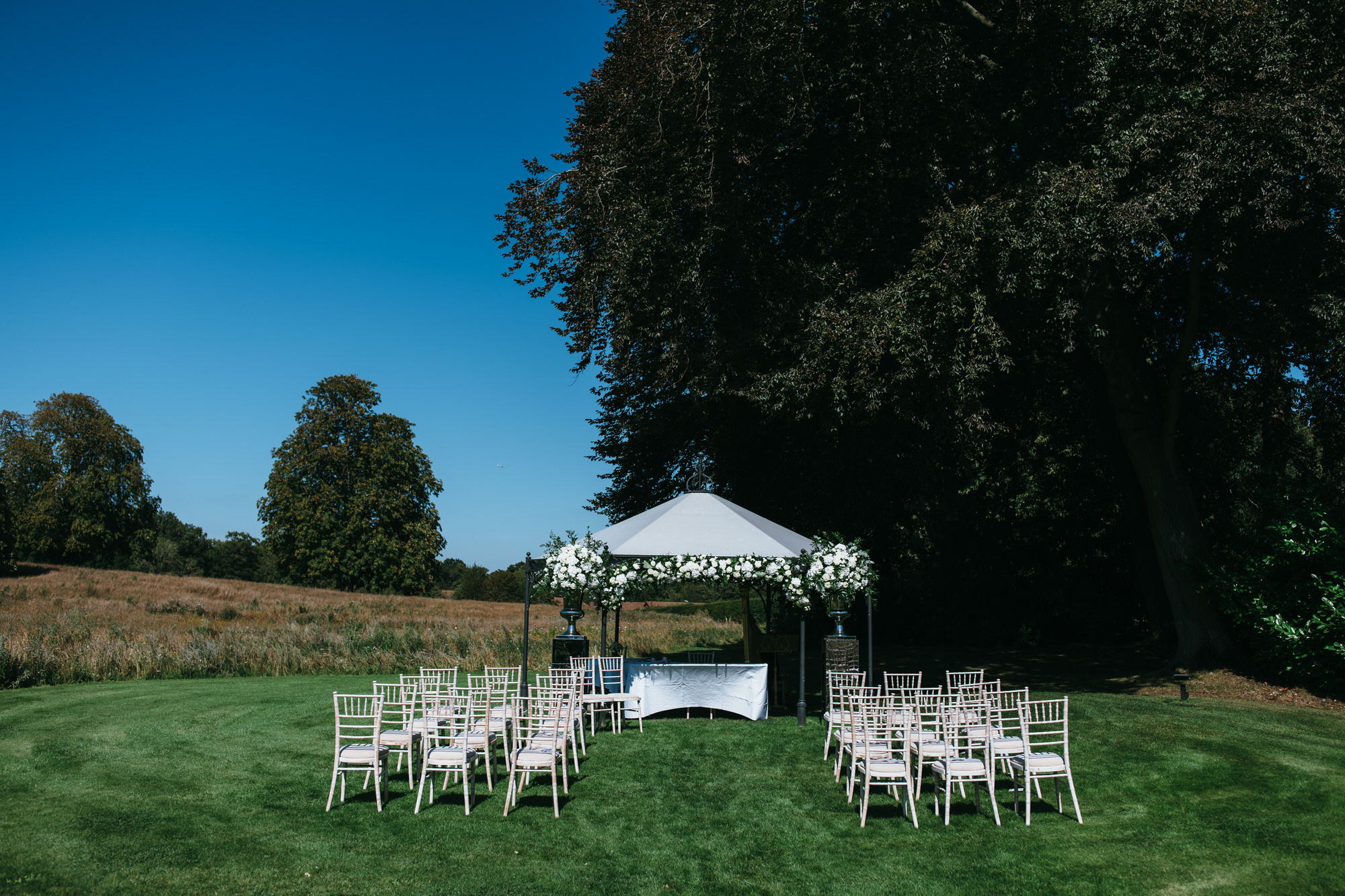 Coworth Park outdoor wedding