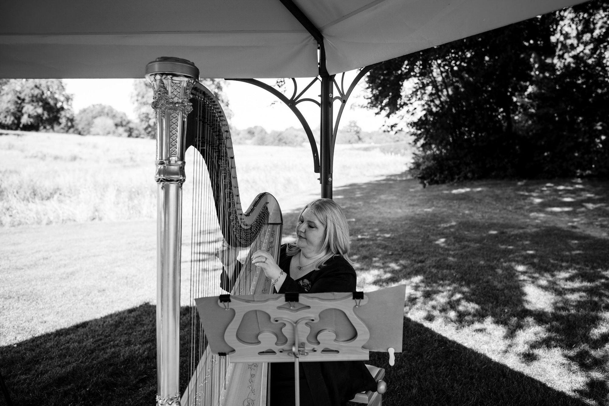 Harpist Coworth Park wedding
