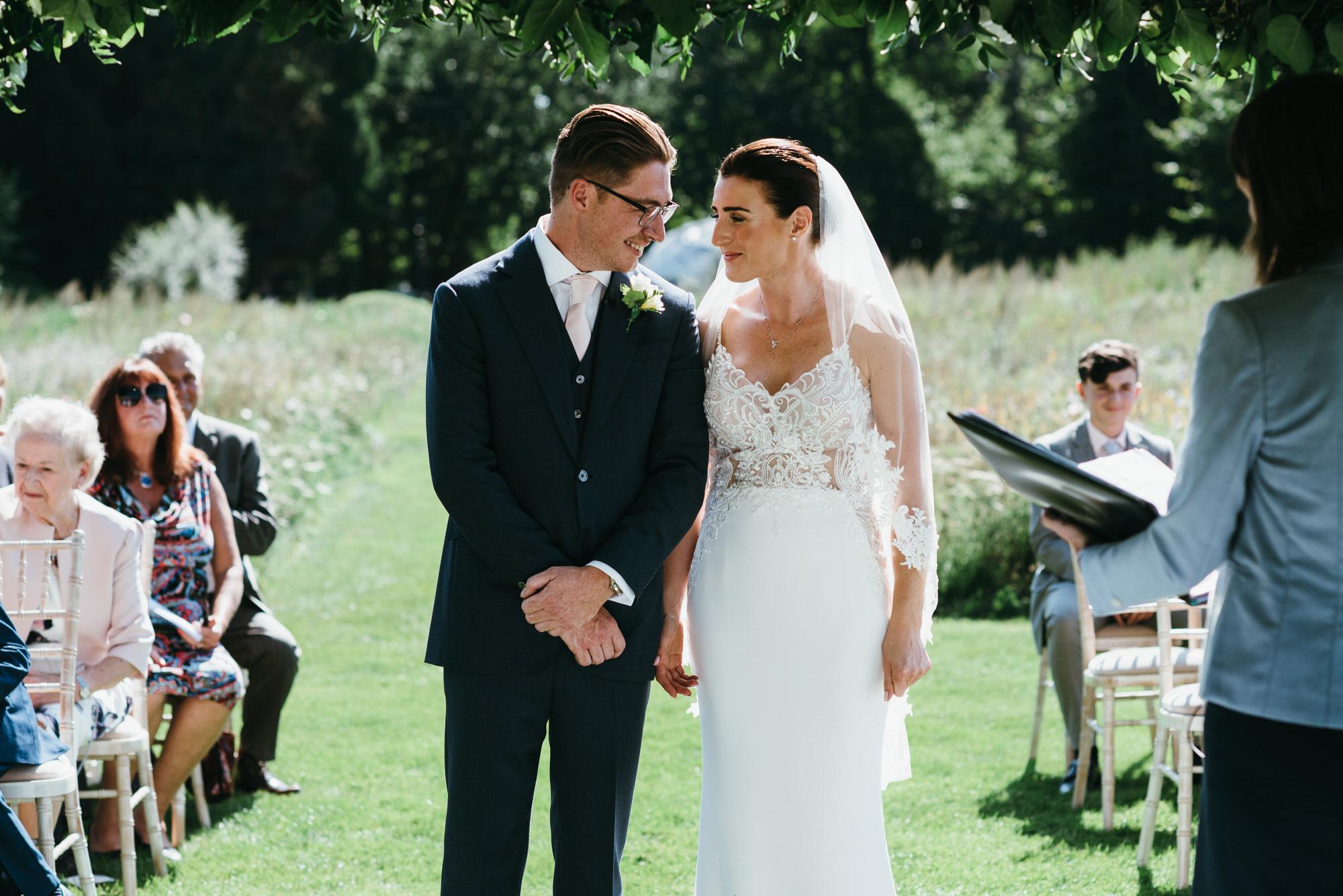 Coworth park wedding in meadow