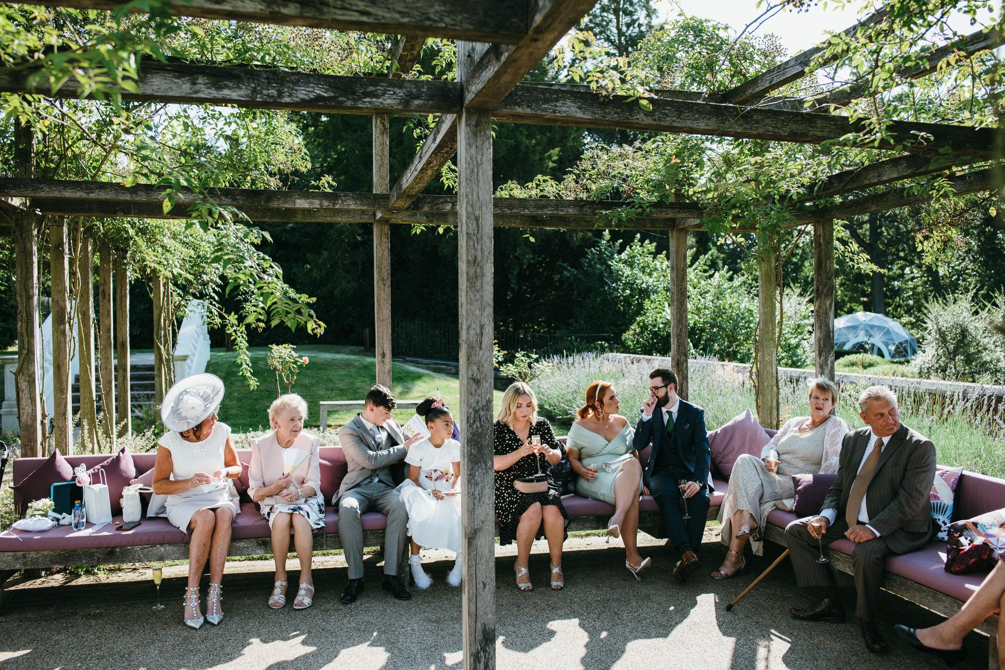 Rose garden Coworth park wedding
