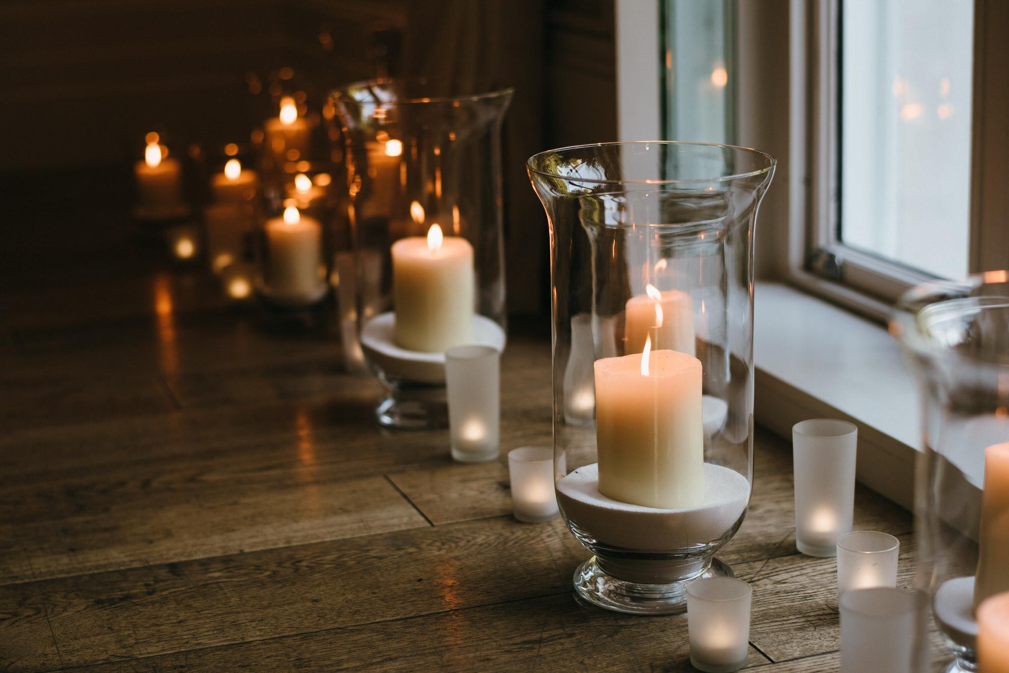 Oak Room candles Coworth Park