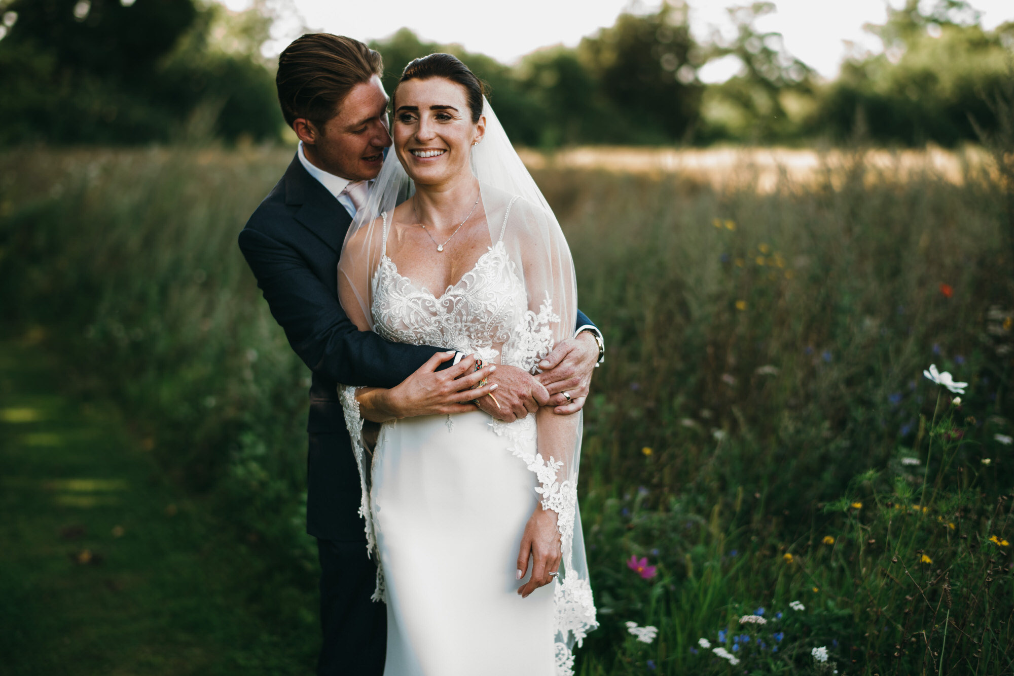 Couple at Coworth park wedding