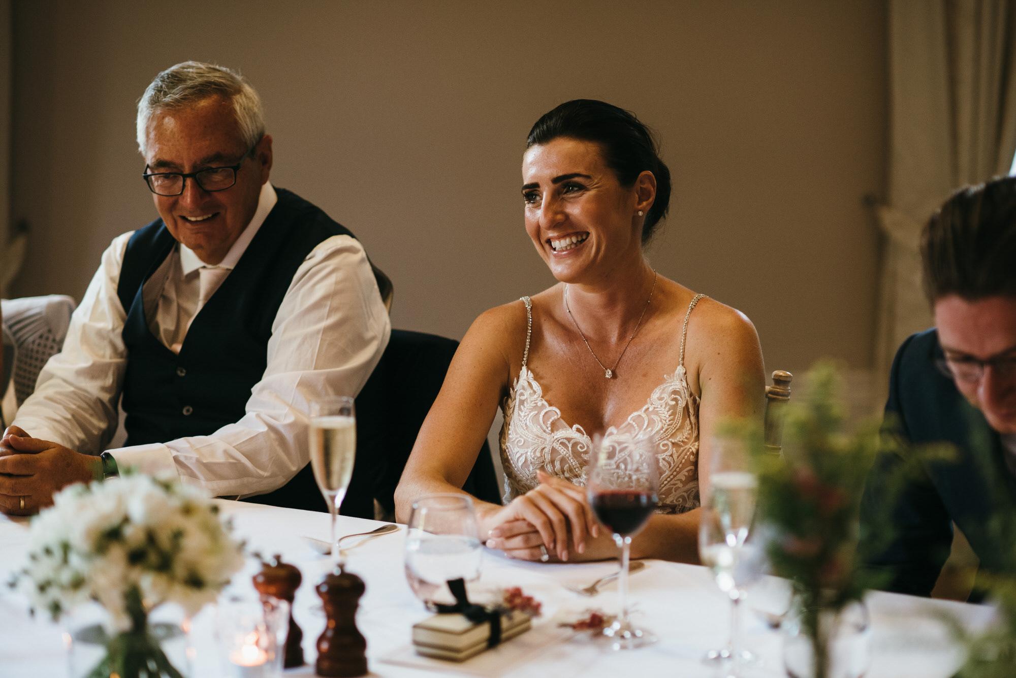 speech reactions at wedding