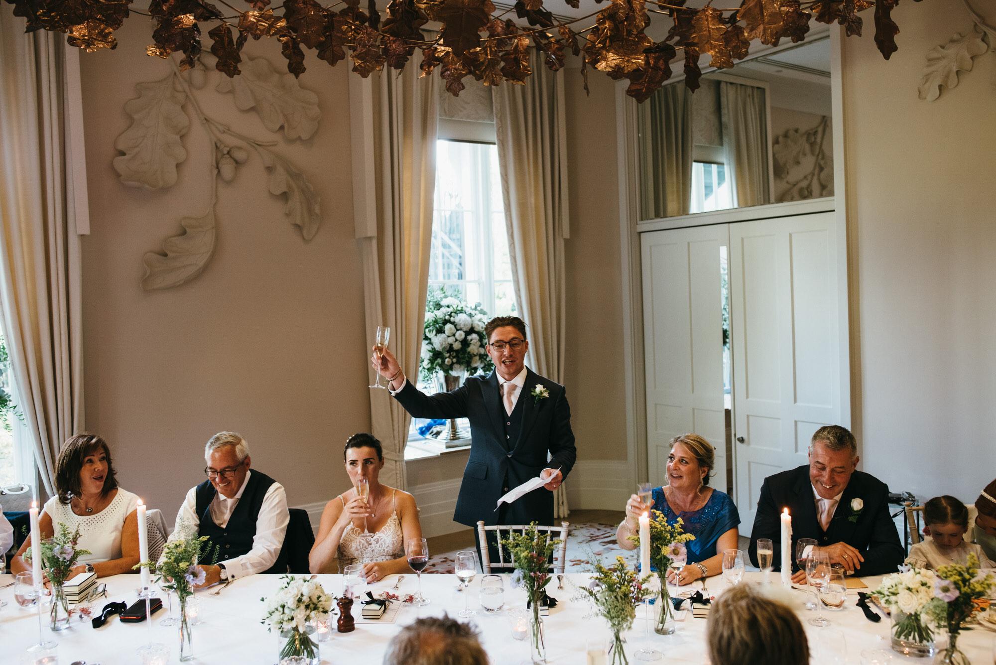 speeches at wedding Coworth park