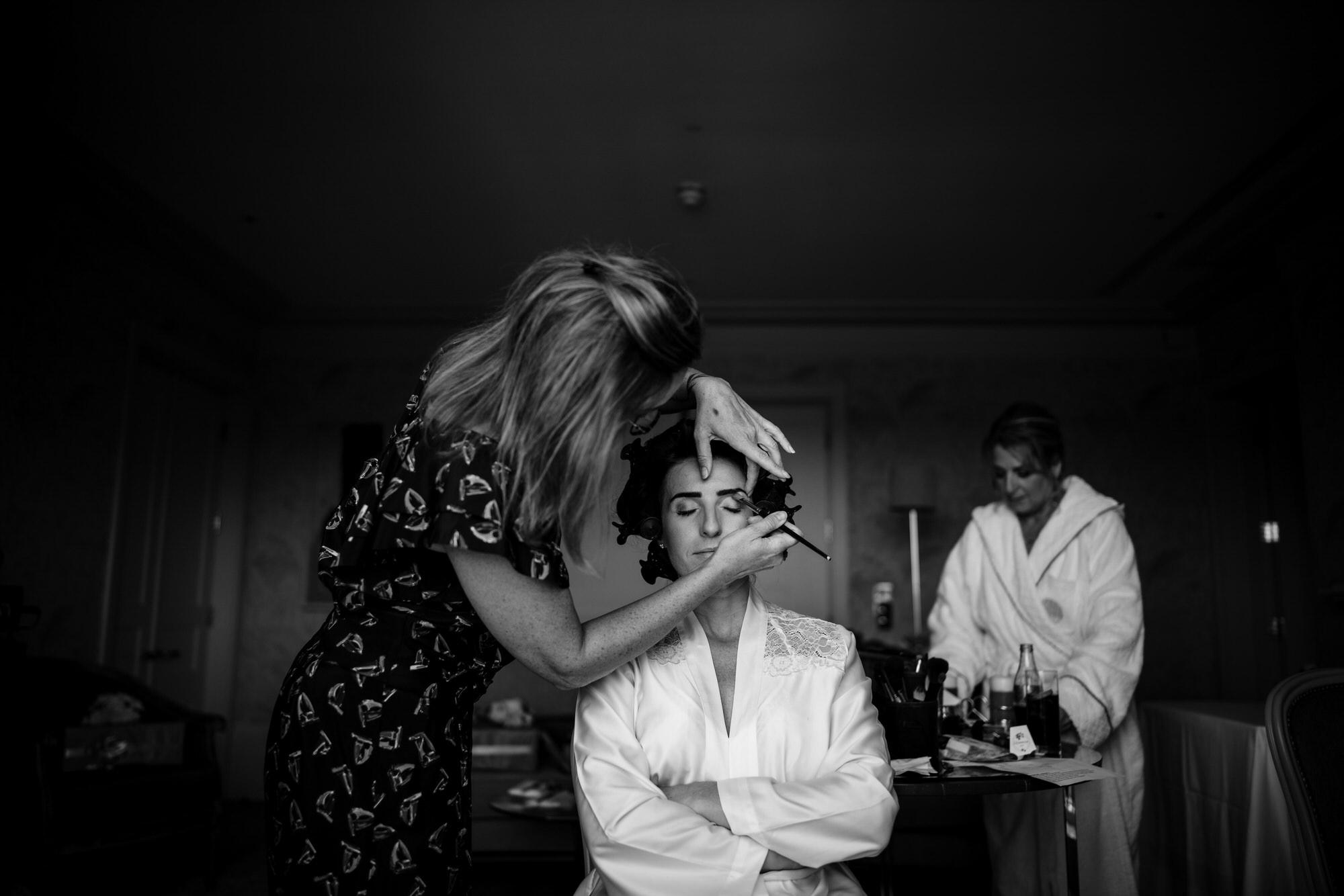 Bridal makeup Coworth Park