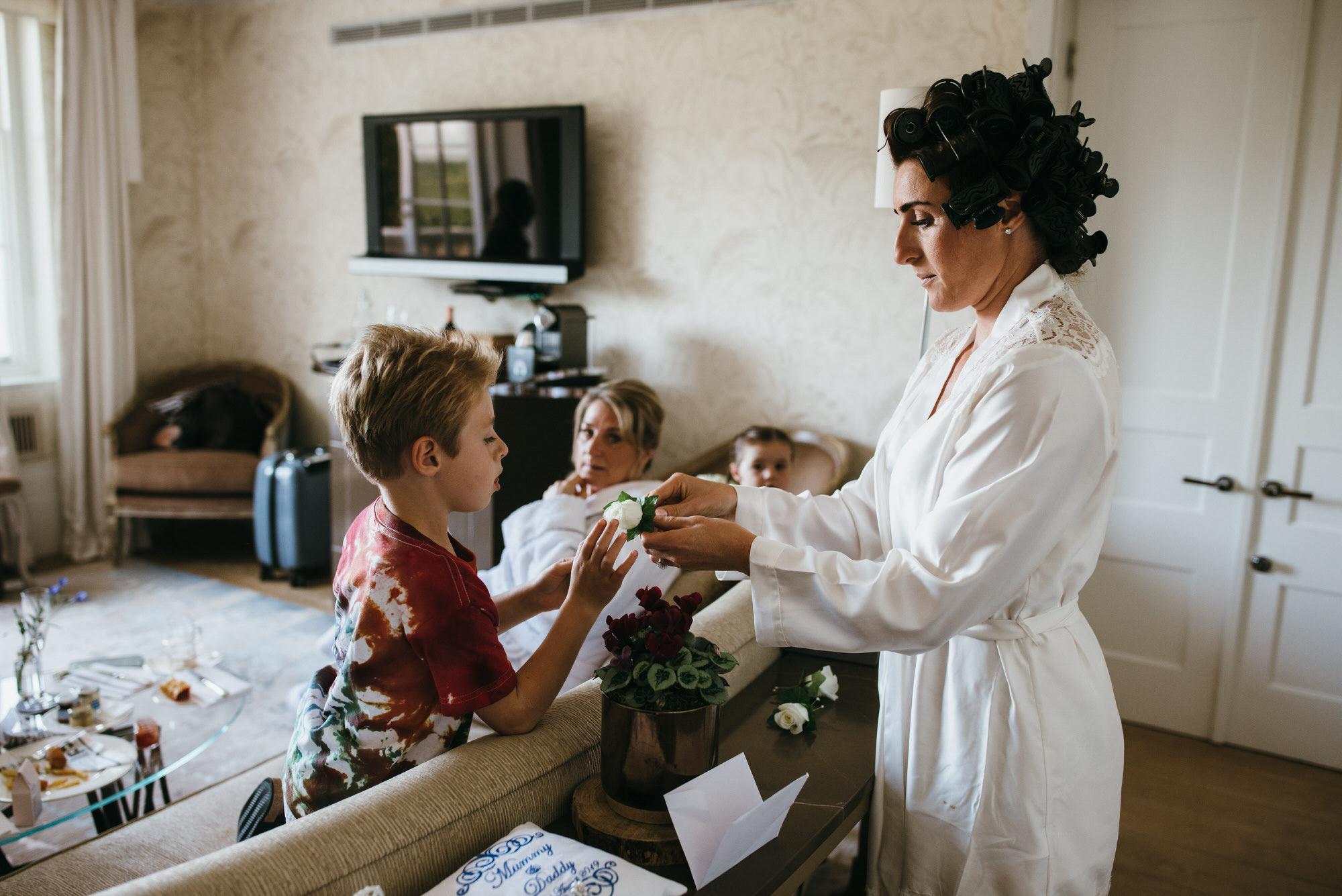 Coworth park wedding preparations
