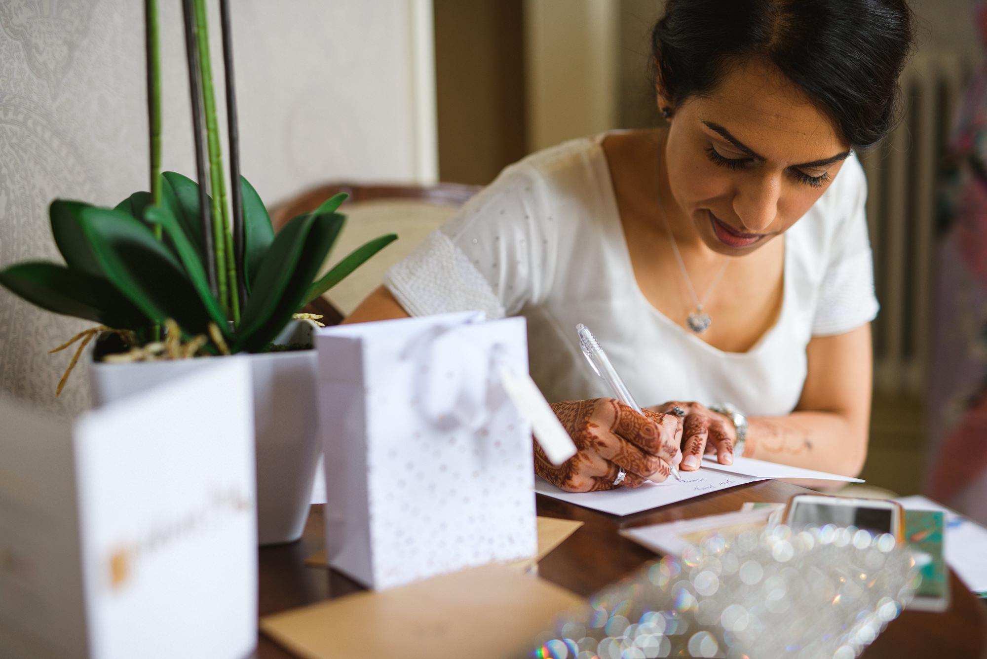 Bride writes letter