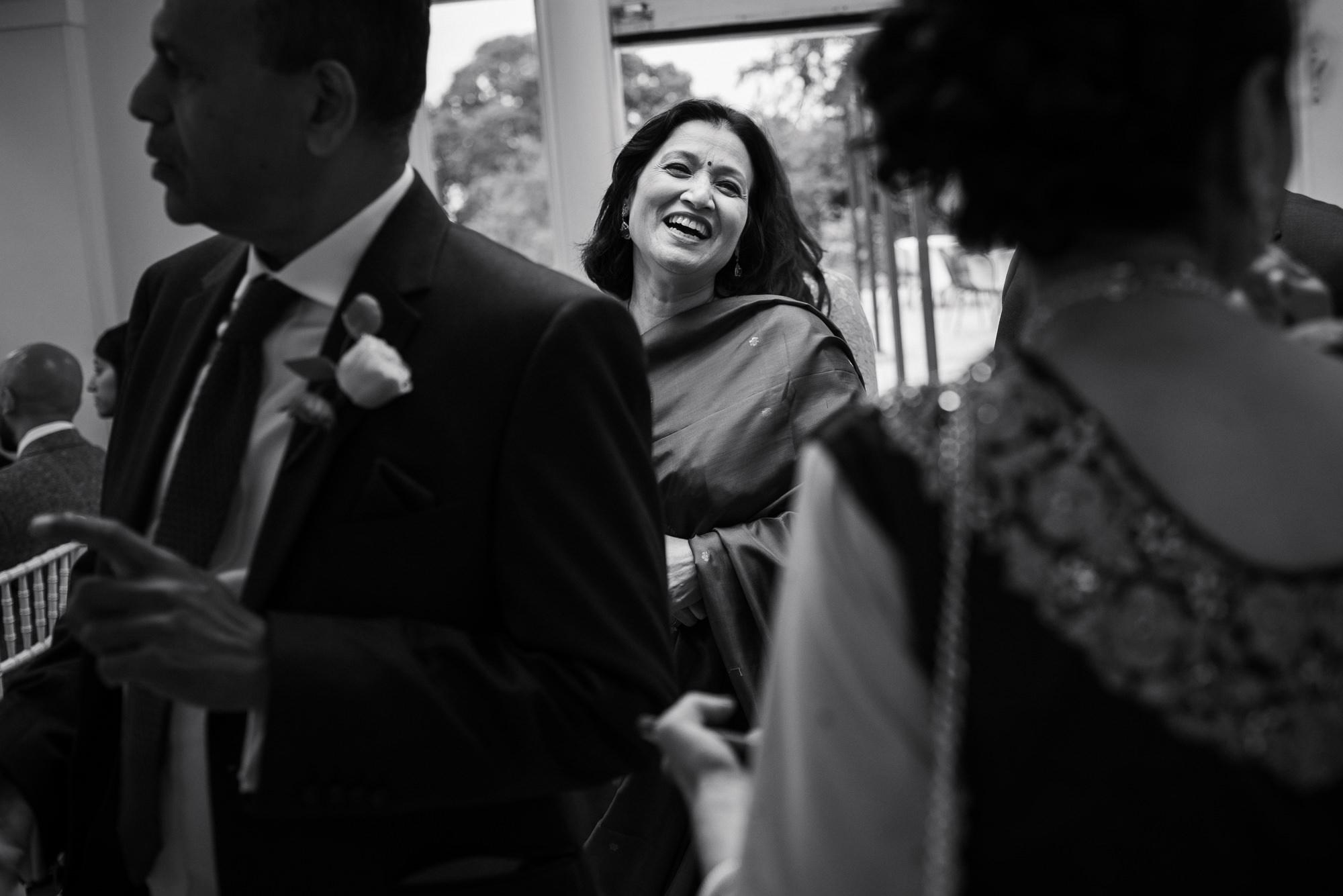 Guests at Pembroke lodge wedding