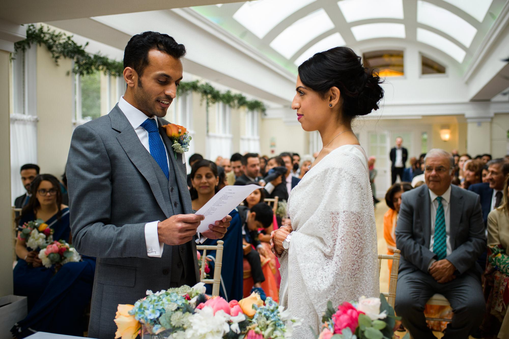 indian wedding ceremony Pembroke lodge