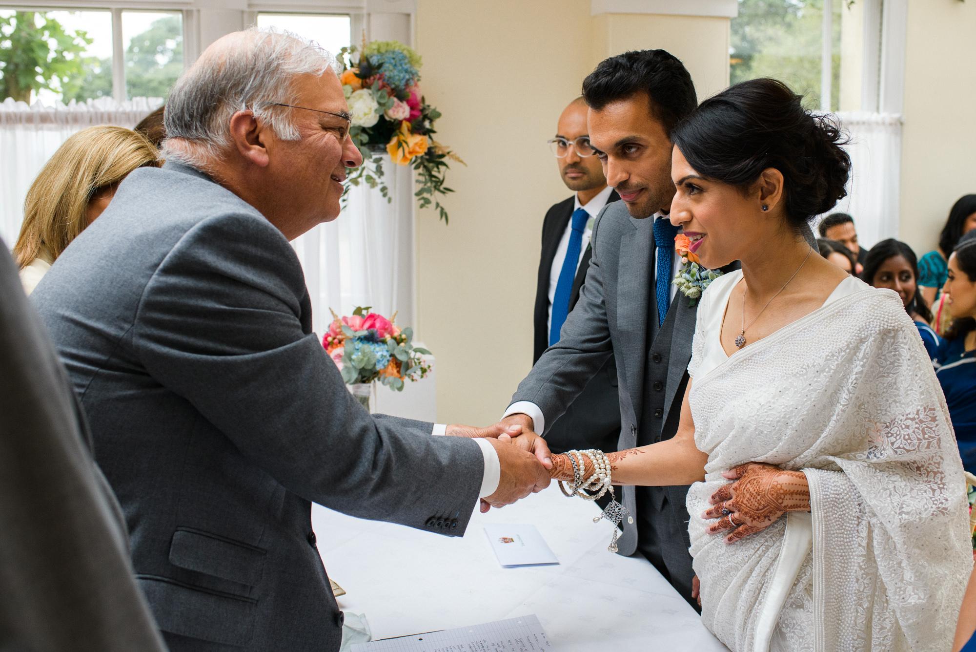 Indian wedding blessing Pembroke lodge