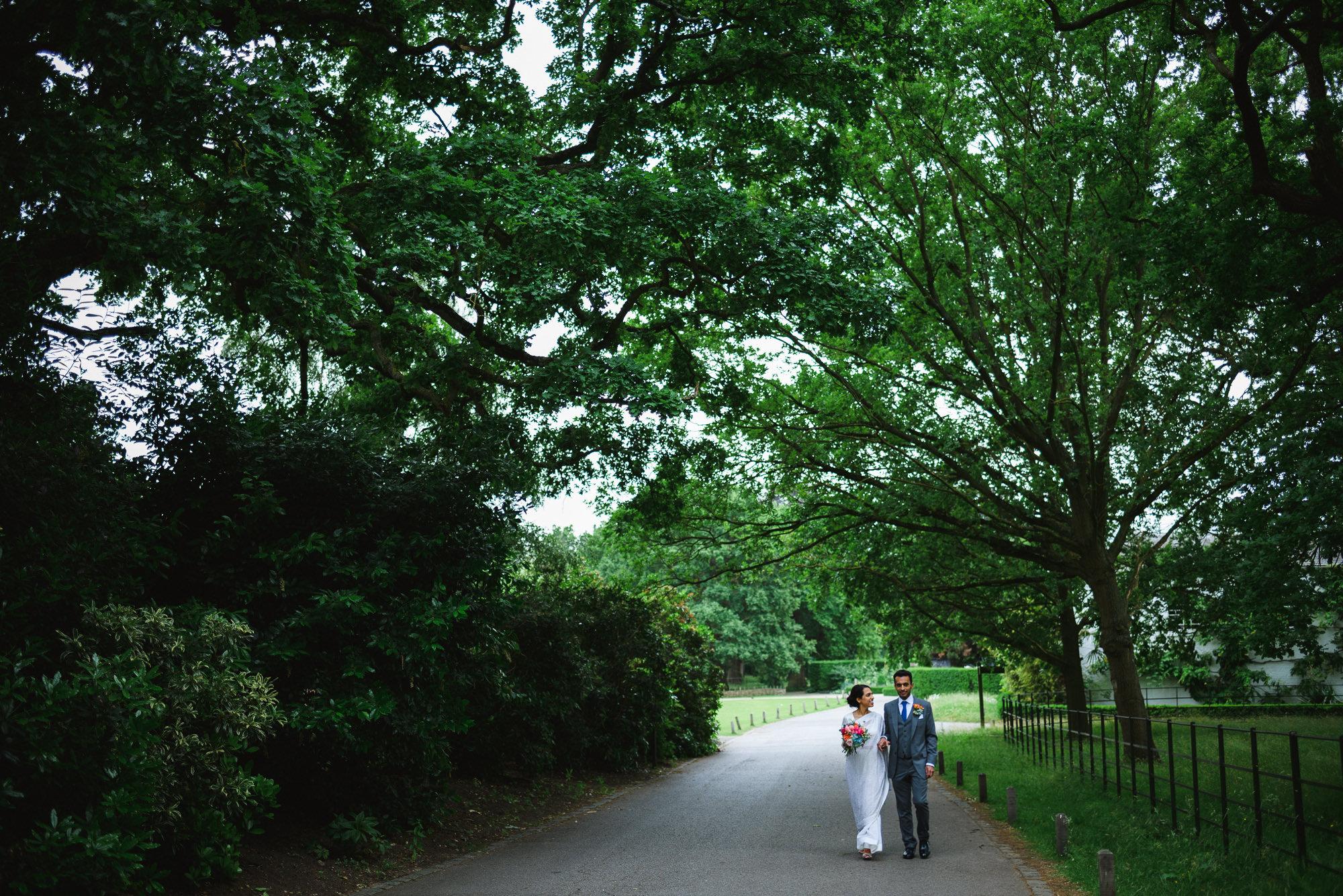 Bride and Groom Pembroke lodge wedding